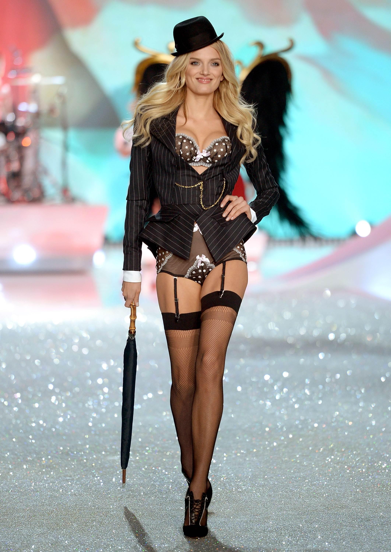 Lily Donaldson Victorias Secret Fashion Show Runway in New York