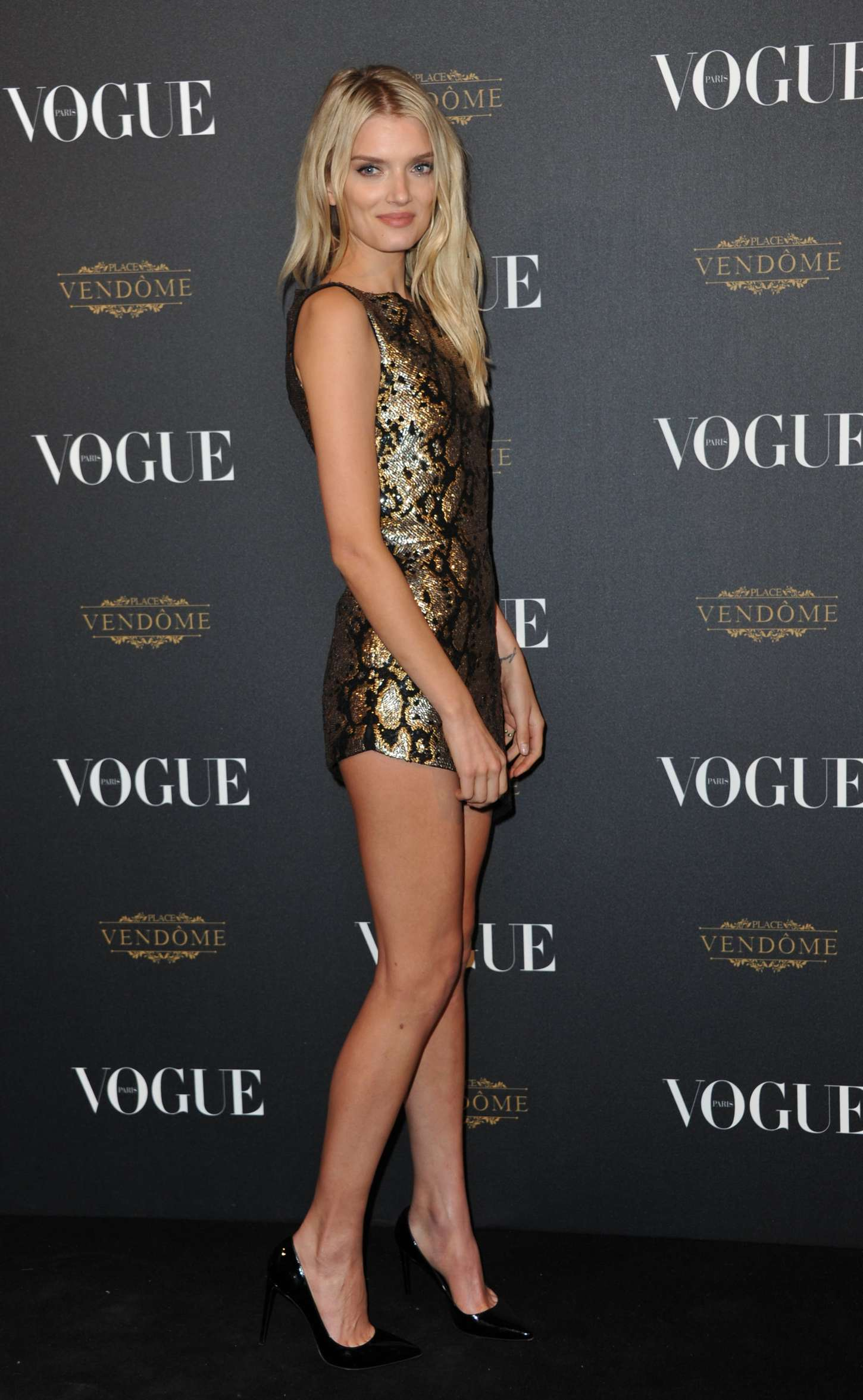 Lily Donaldson Vogue Anniversary Party in Paris