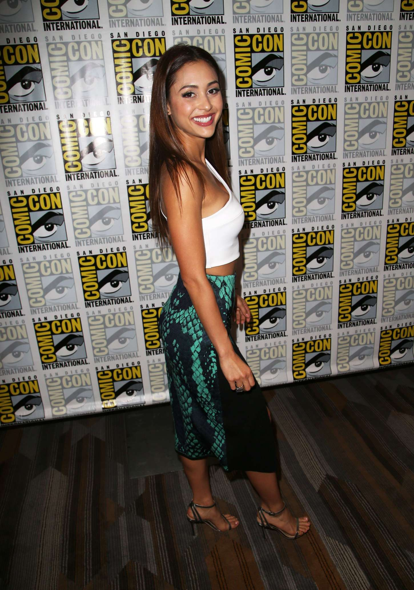 Lindsey Morgan The Press Line at Comic Con in San Diego