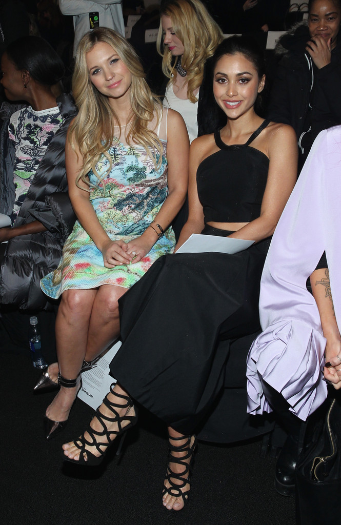 Lindsey Morgan Vivienne Tam Fashion Show in New York