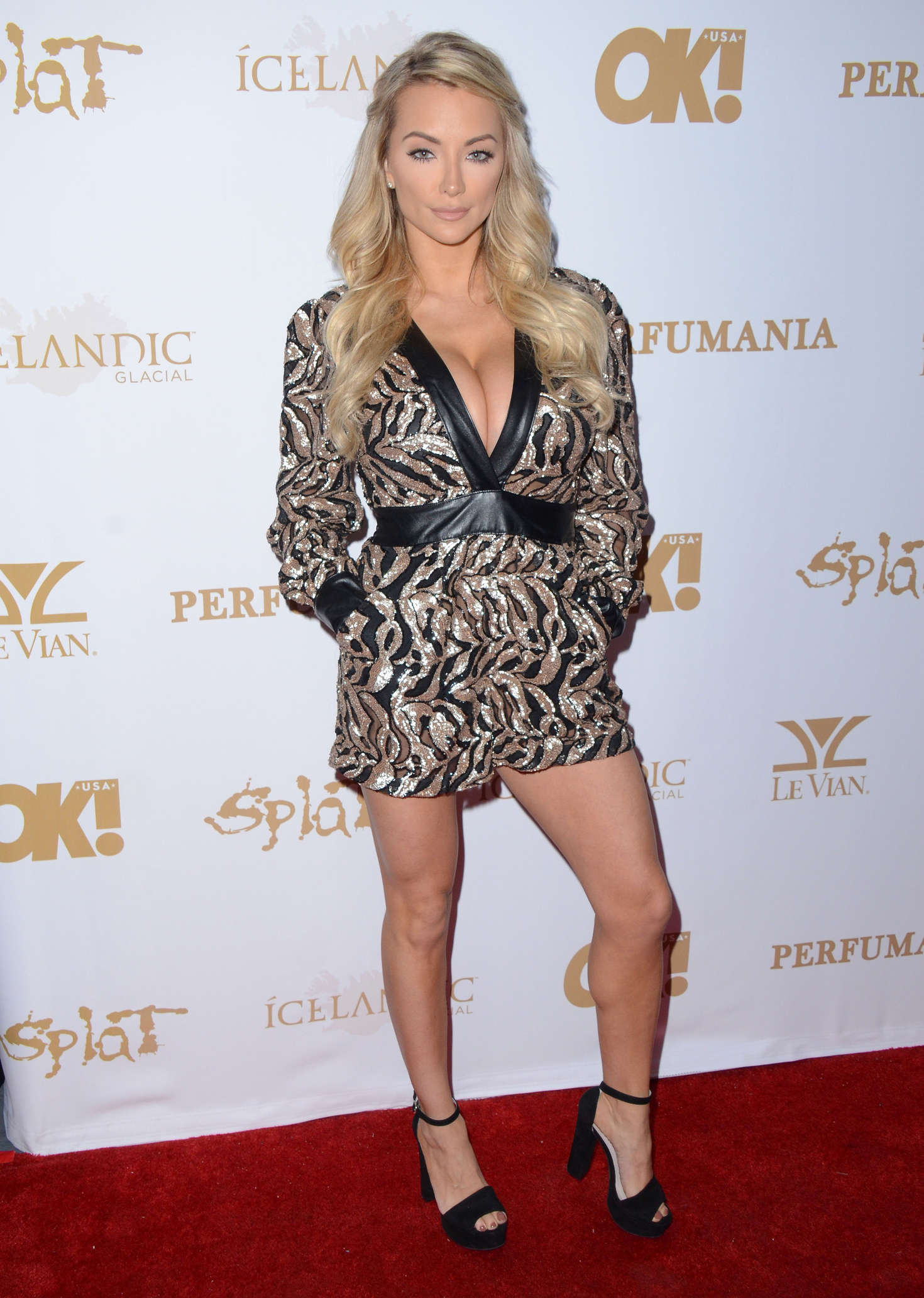 Lindsey Pelas OK! Magazines Pre-Grammy Event in Hollywood