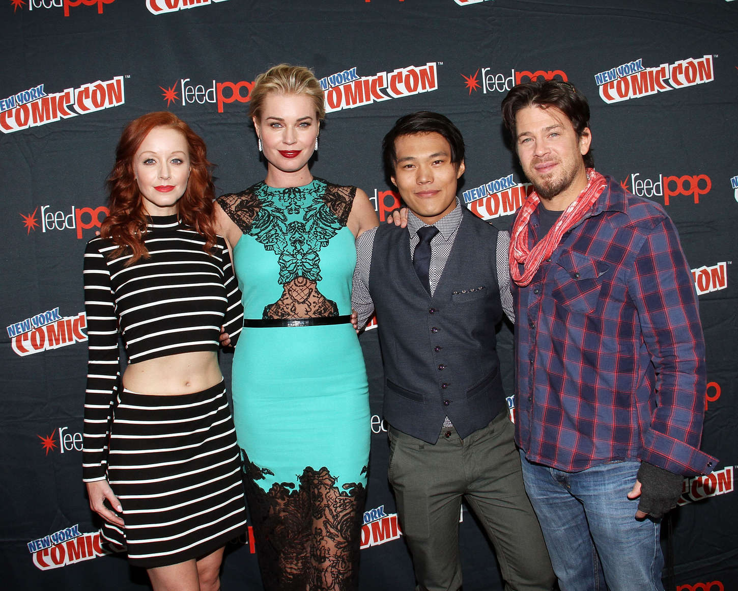 Lindy Booth Promoting The Librarians at New York Comic Con in New York