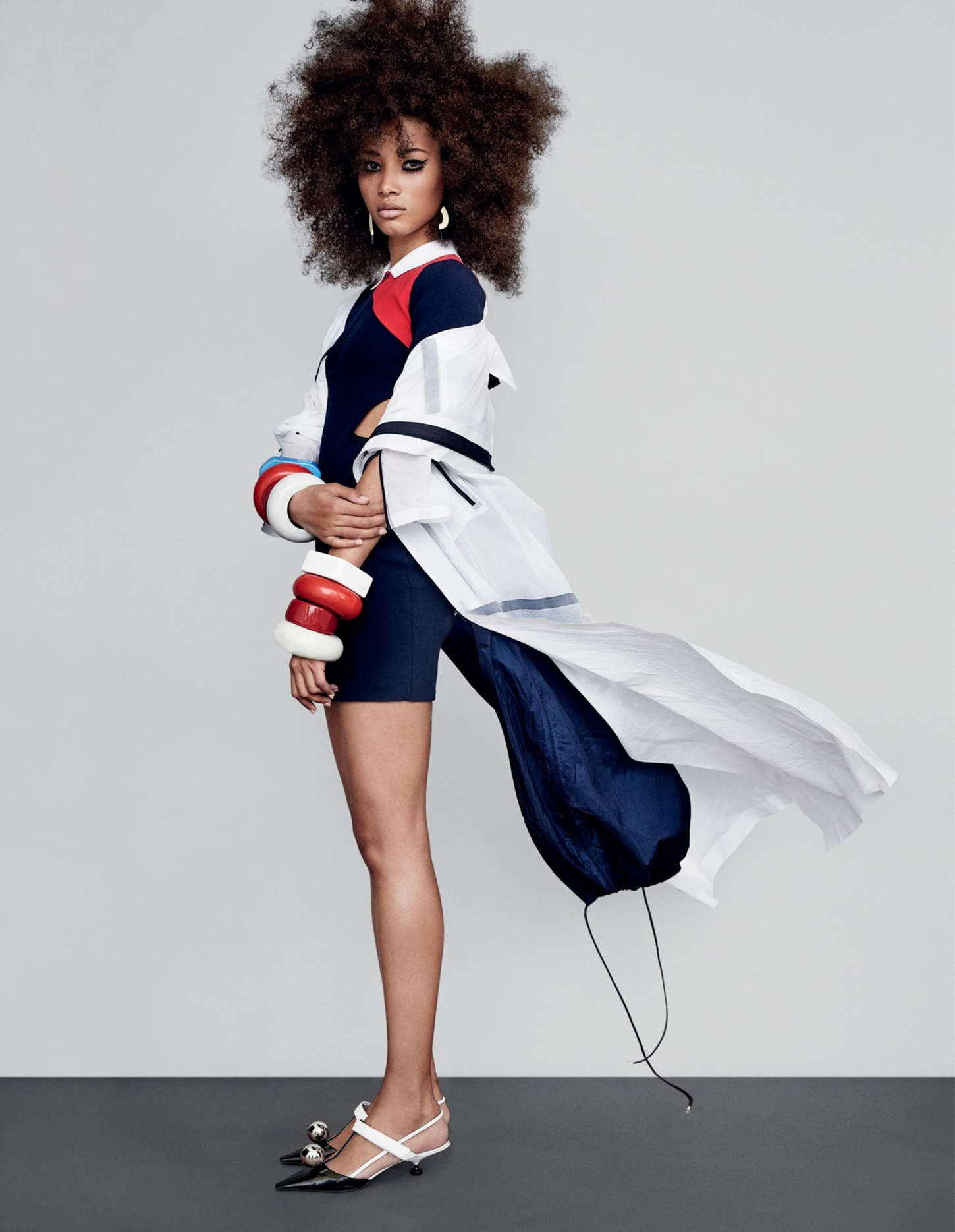 Lineisy Montero Vogue UK Magazine by Patrick Demarchelier