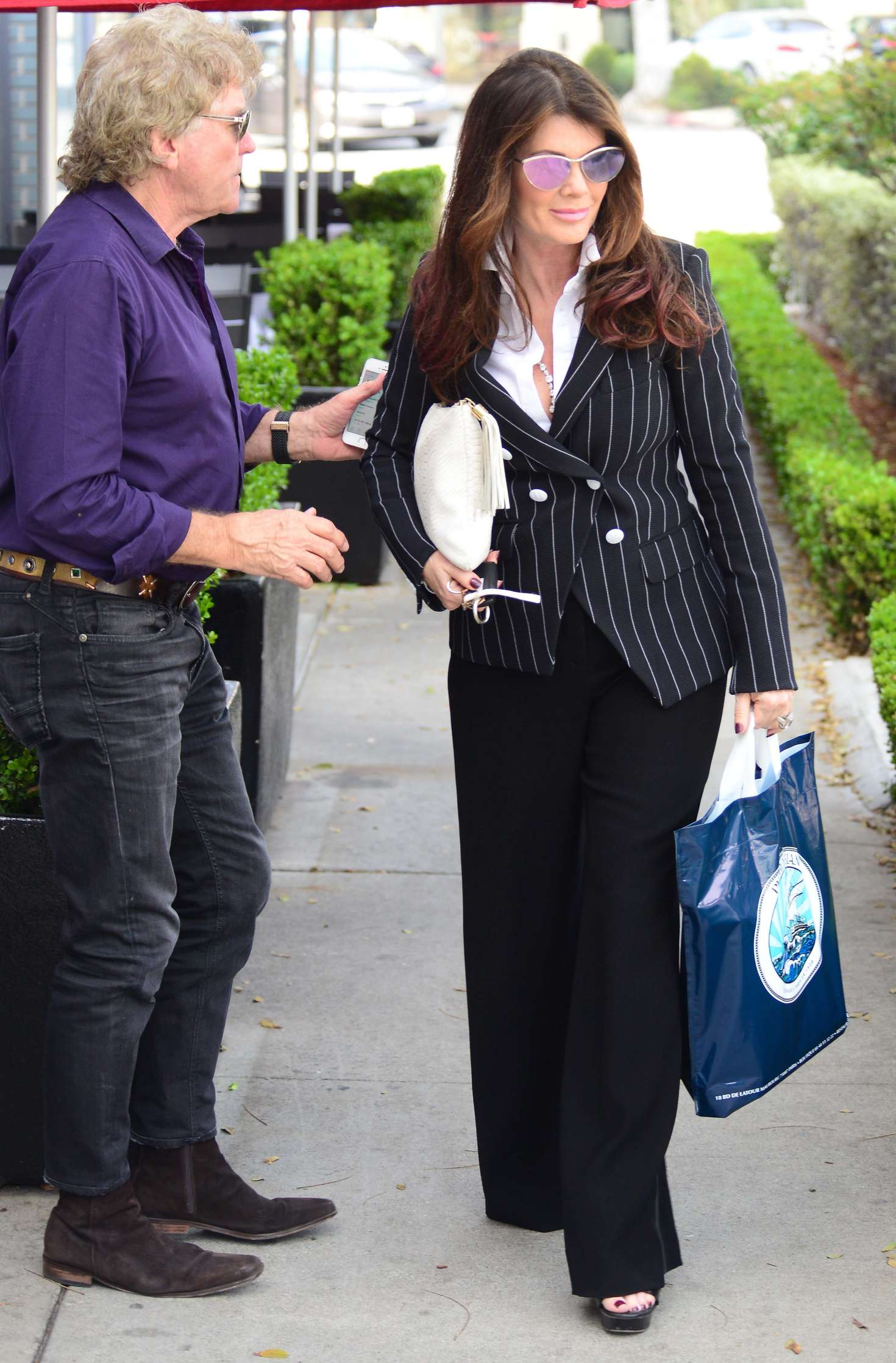 Lisa Vanderpump Arrives at Petrossian in Beverly Hills