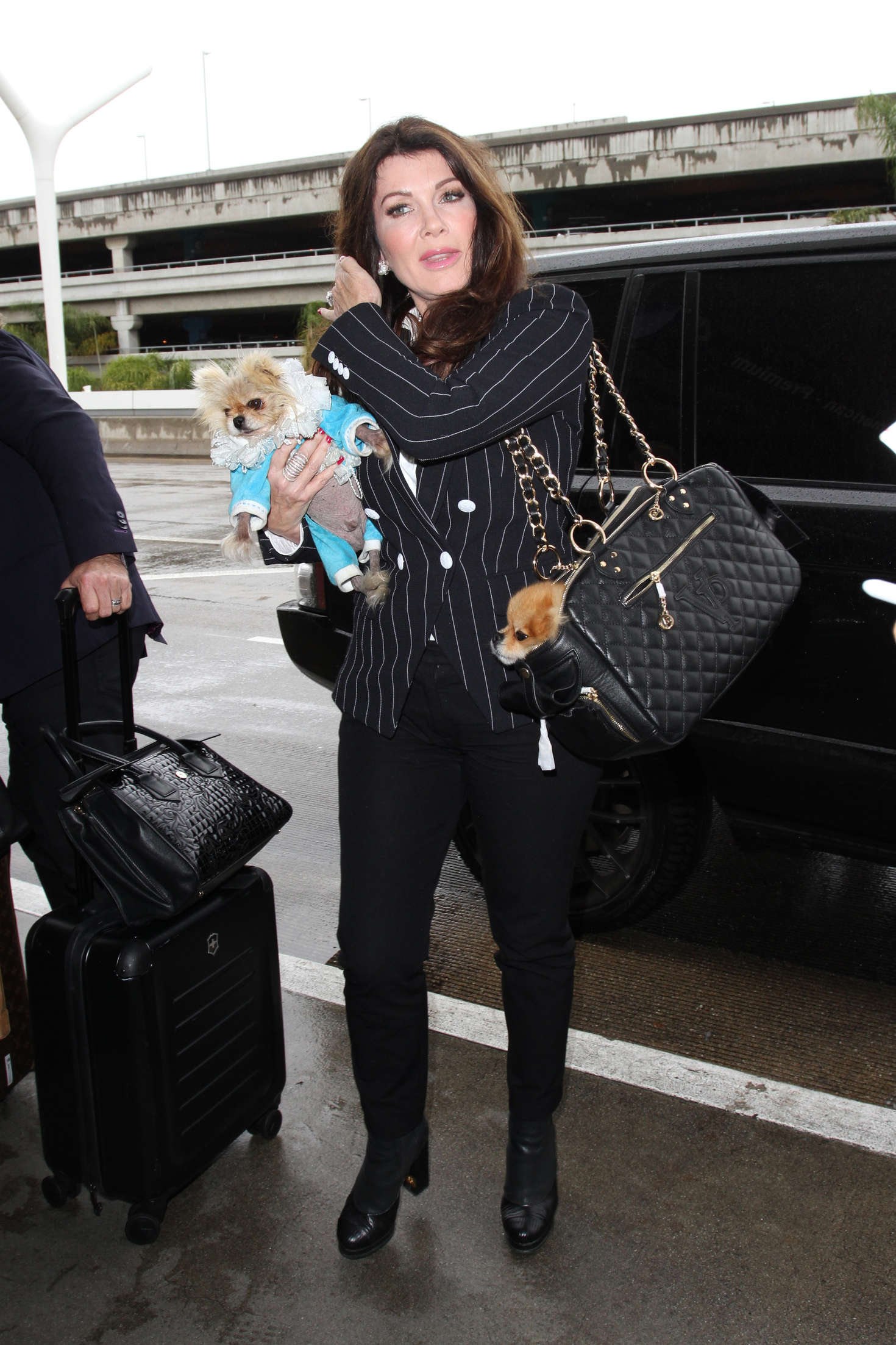 Lisa Vanderpump at LAX Airport in Los Angeles