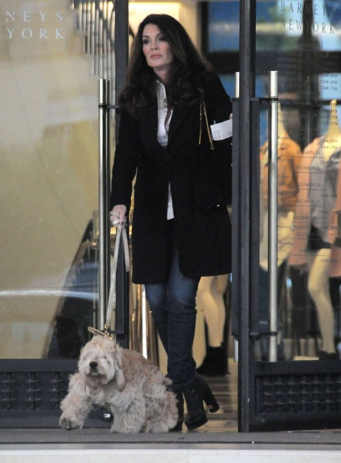Lisa Vanderpump Shopping in Beverly Hills