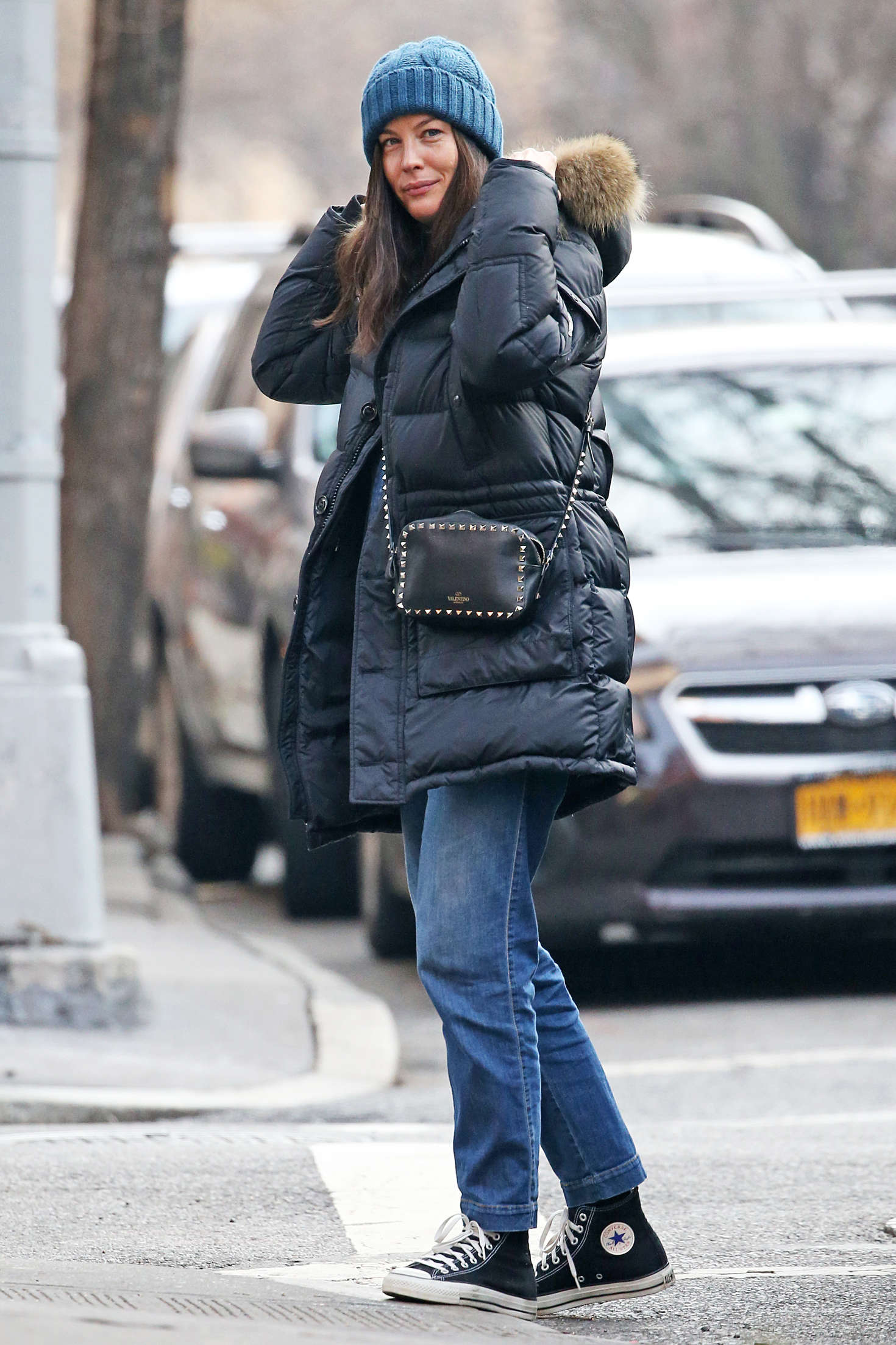 Liv Tyler walks in New York City