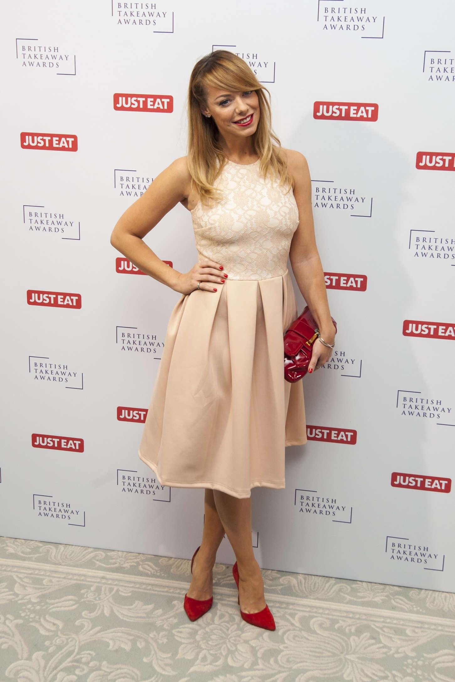 Liz McClarnon British Takeaway Awards in London