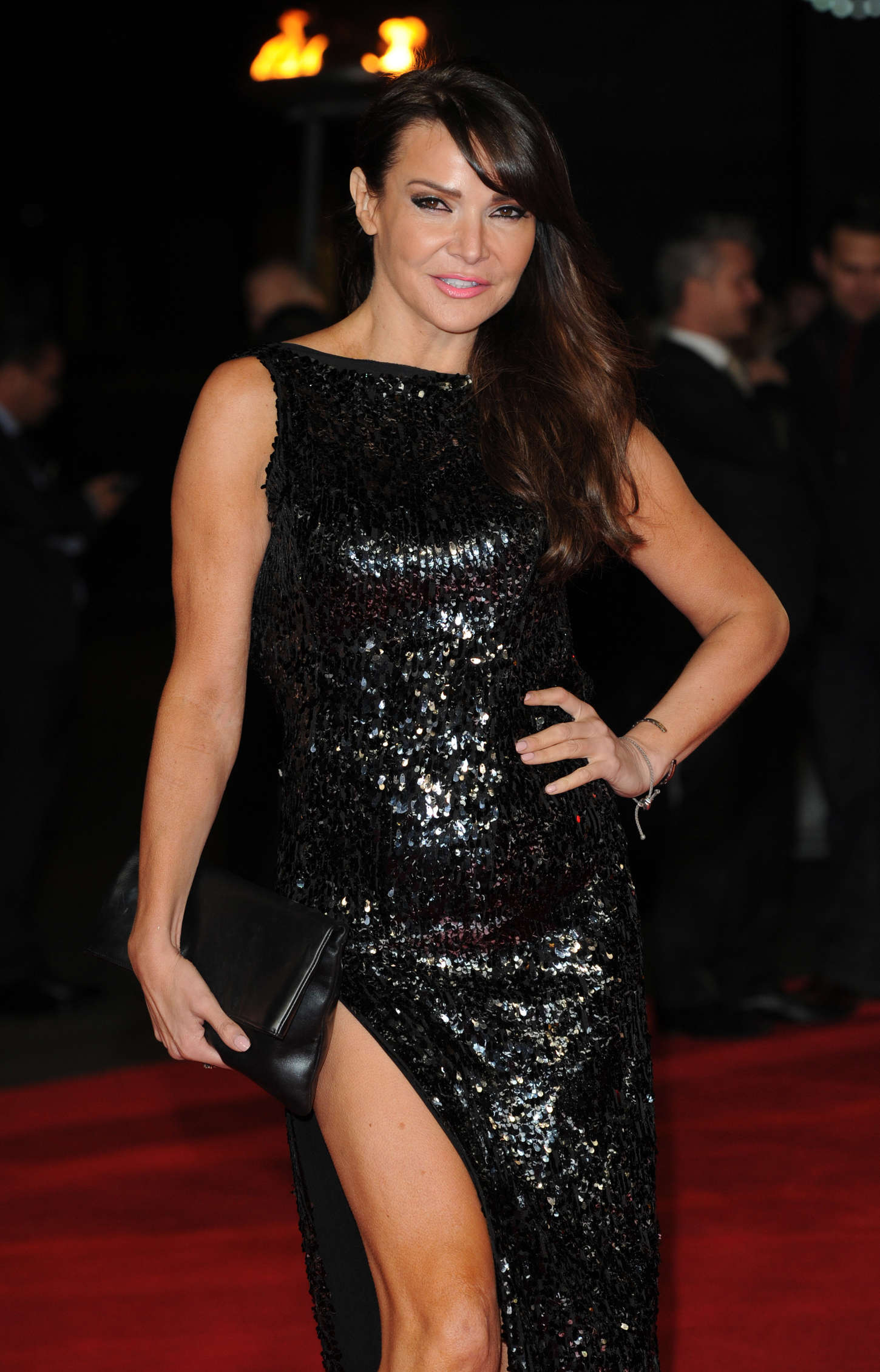 Lizzie Cundy at Premiere of The Hunger Games Mockingjay Part in London