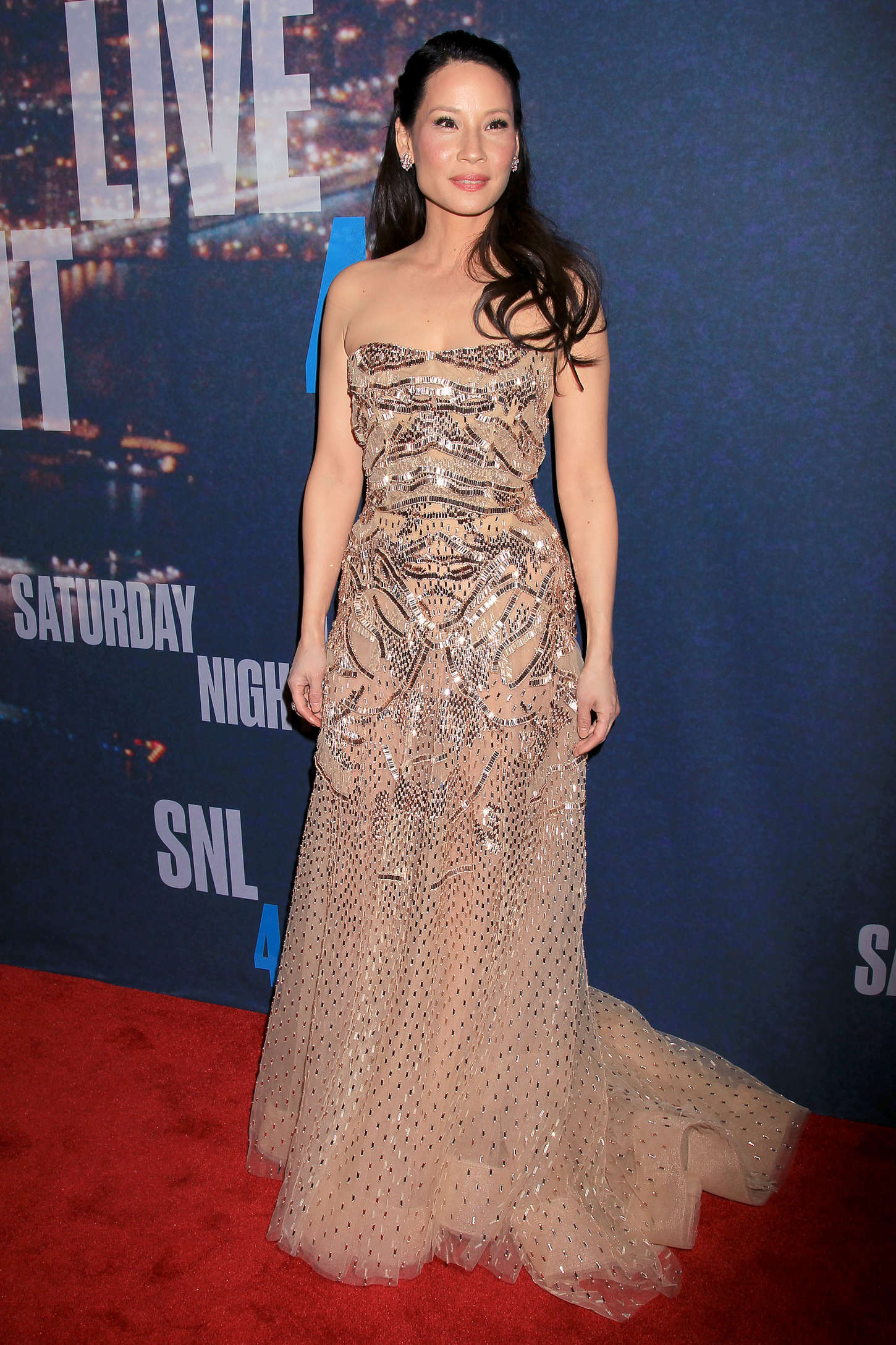 Lucy Liu SNL Anniversary Special in New York