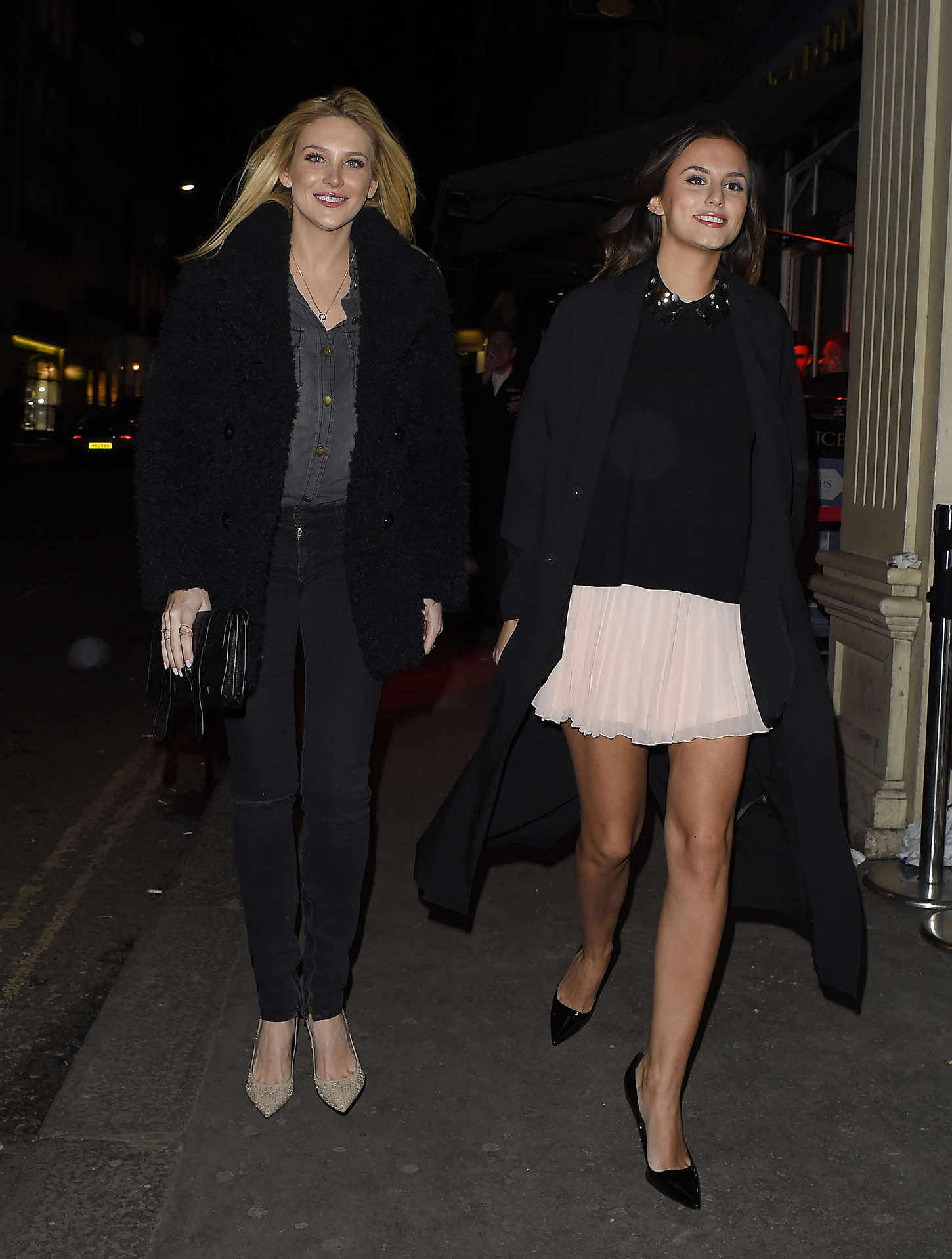 Lucy Watson PETA and Mahiki Fur Amnesty Night in London
