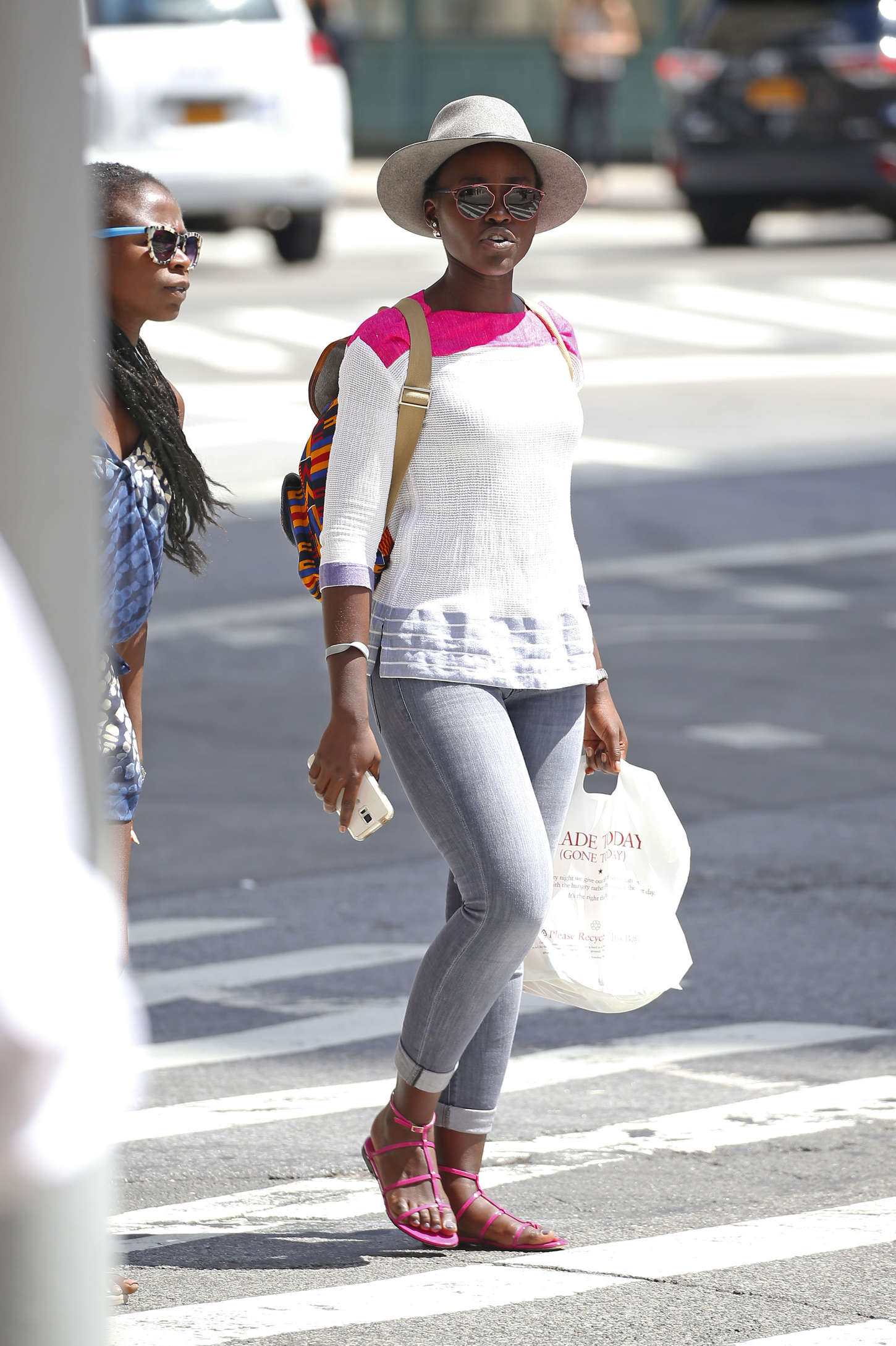 Lupita Nyongo Out for lunch in New York