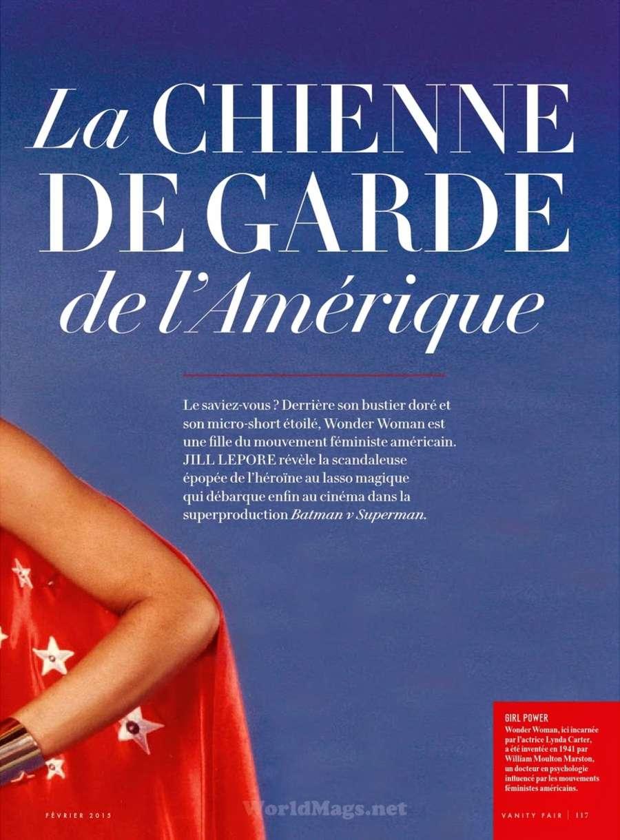 Lynda Carter Vanity Fair France Magazine