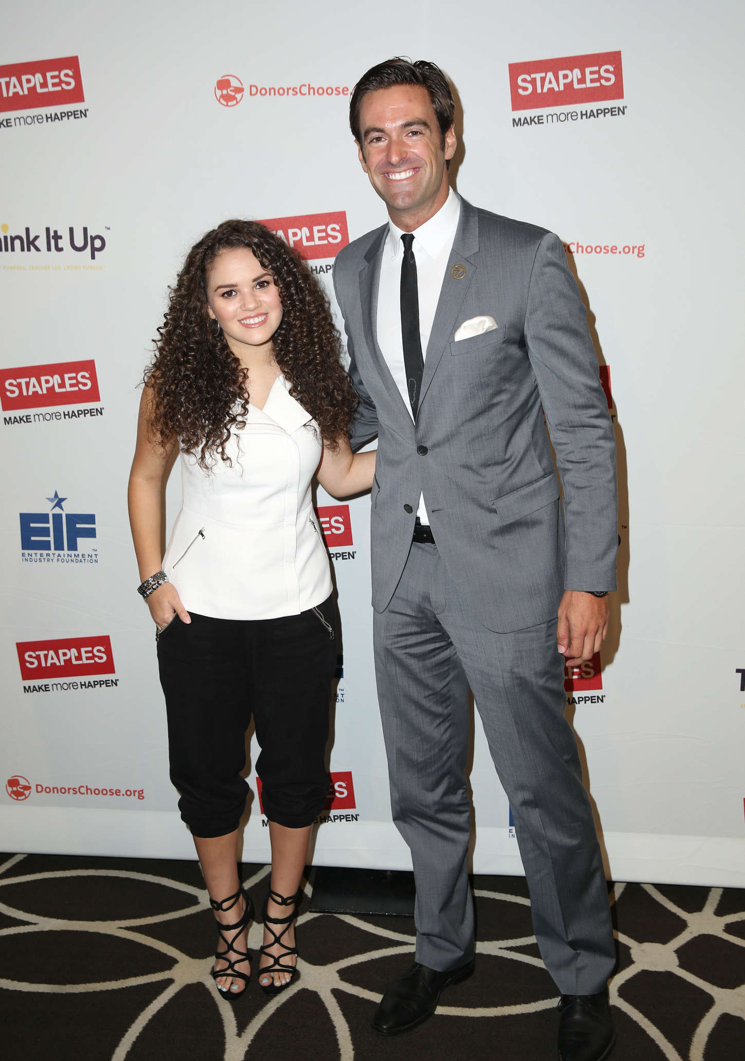Madison Pettis Staples Think It Up Initiative press conference in Hollywood