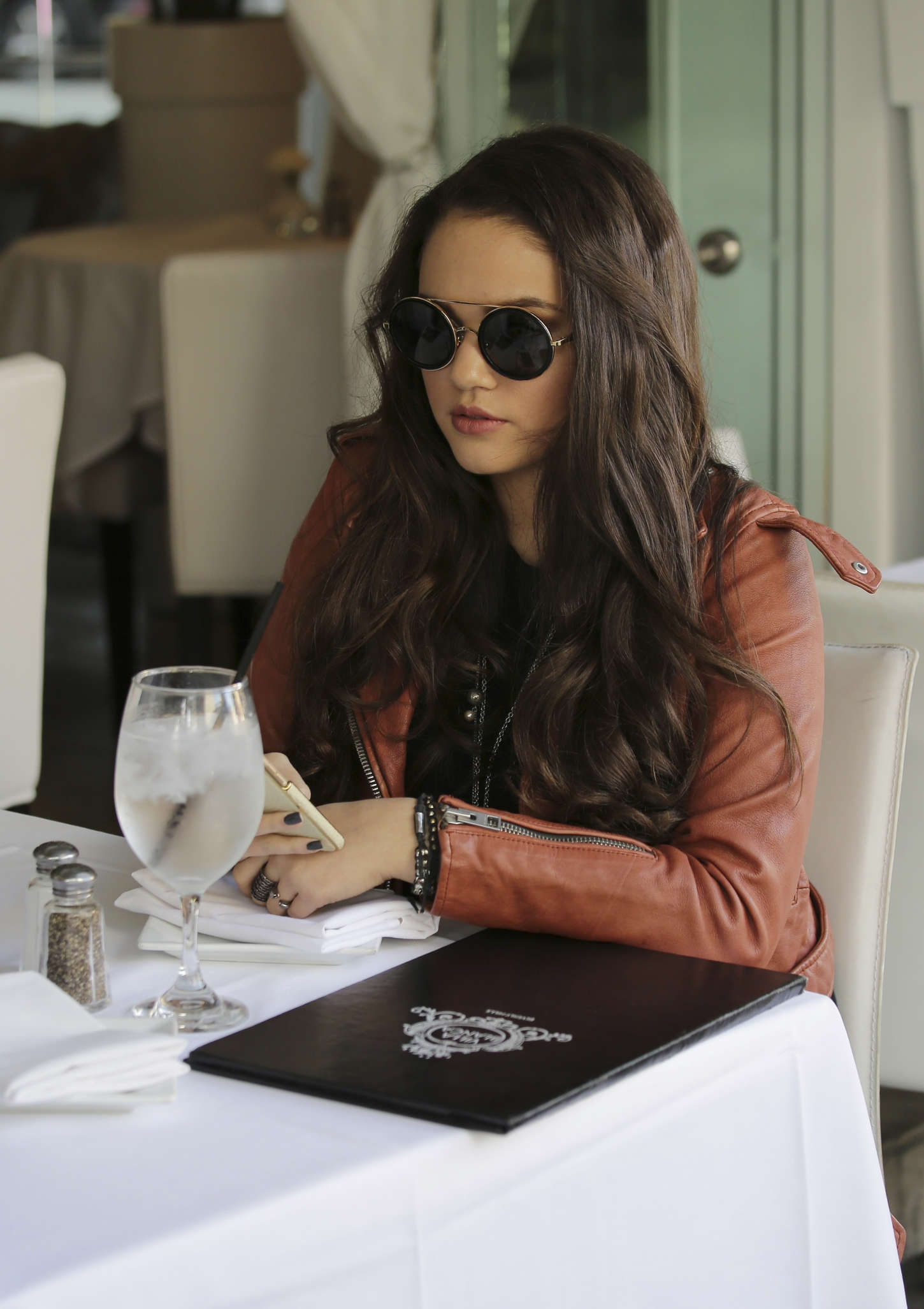 Madison Pettis Villa Blanca Restaurant in Beverly Hills