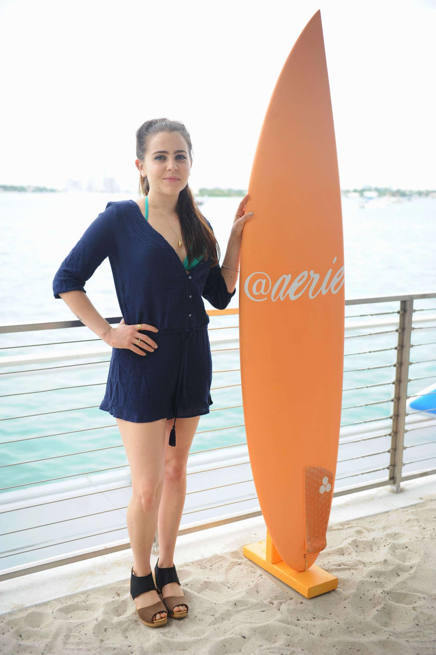 Mae Whitman Aerie Celebrates Swim #AerieREAL in Miami Beach