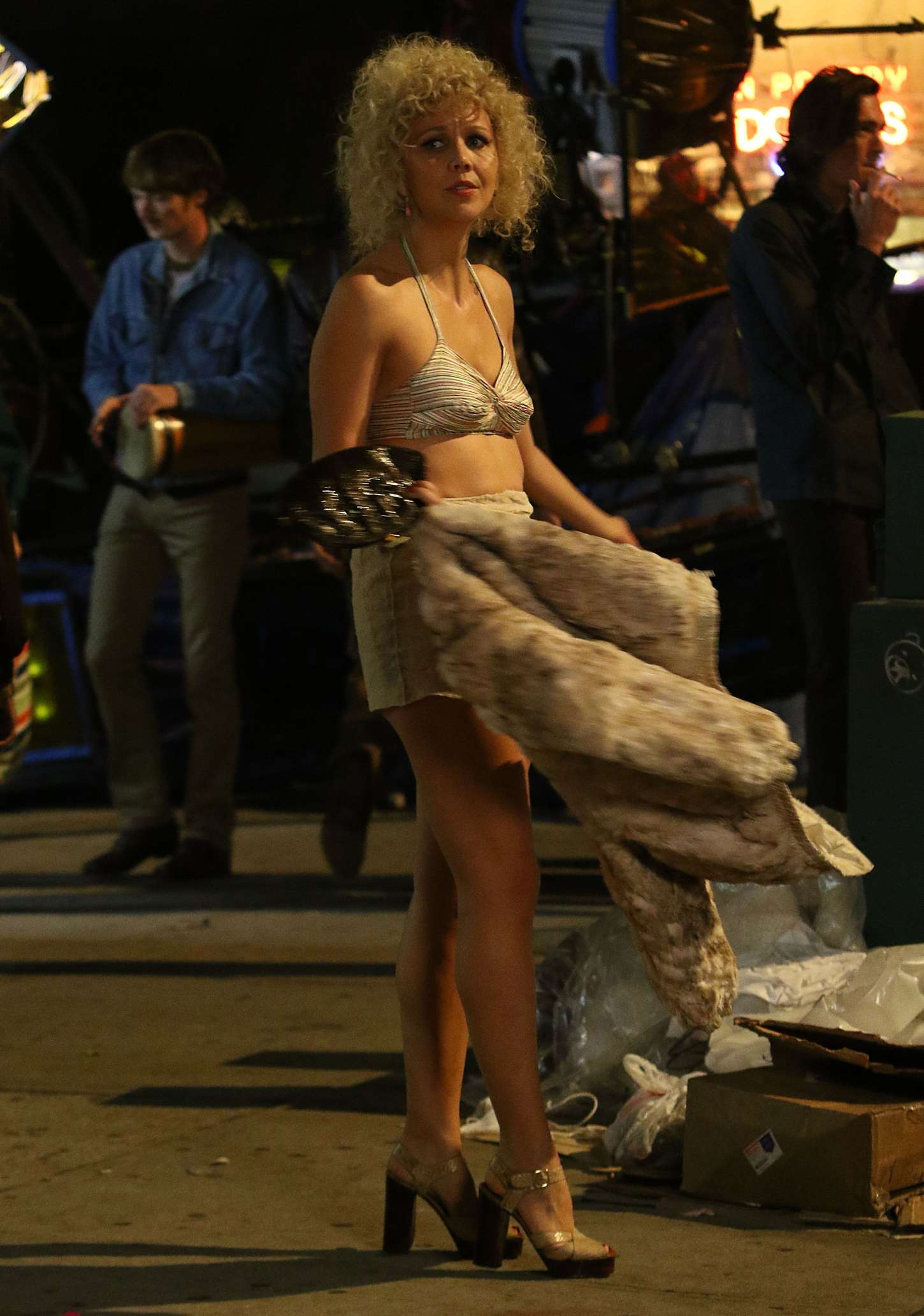 Maggie Gyllenhaal Filming The Deuce in New York