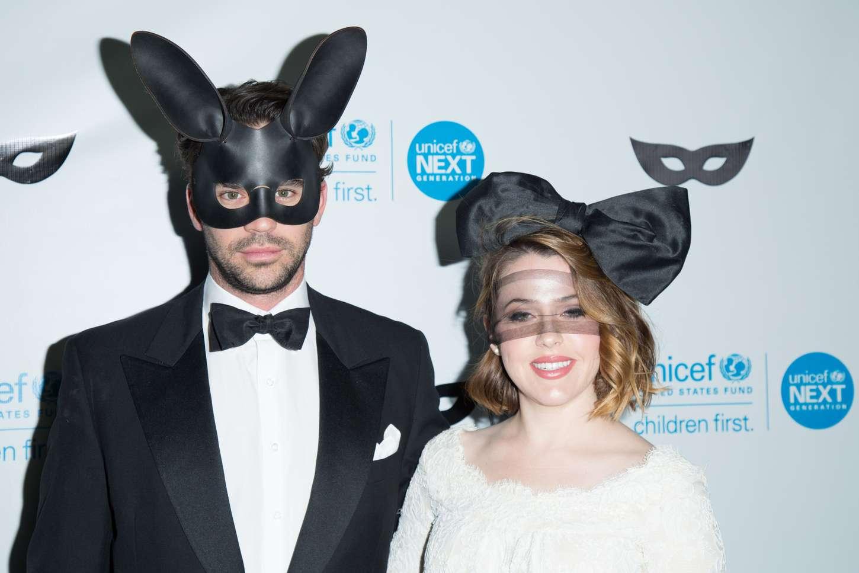Majandra Delfino UNICEF Black White Masquerade Ball in Los Angeles