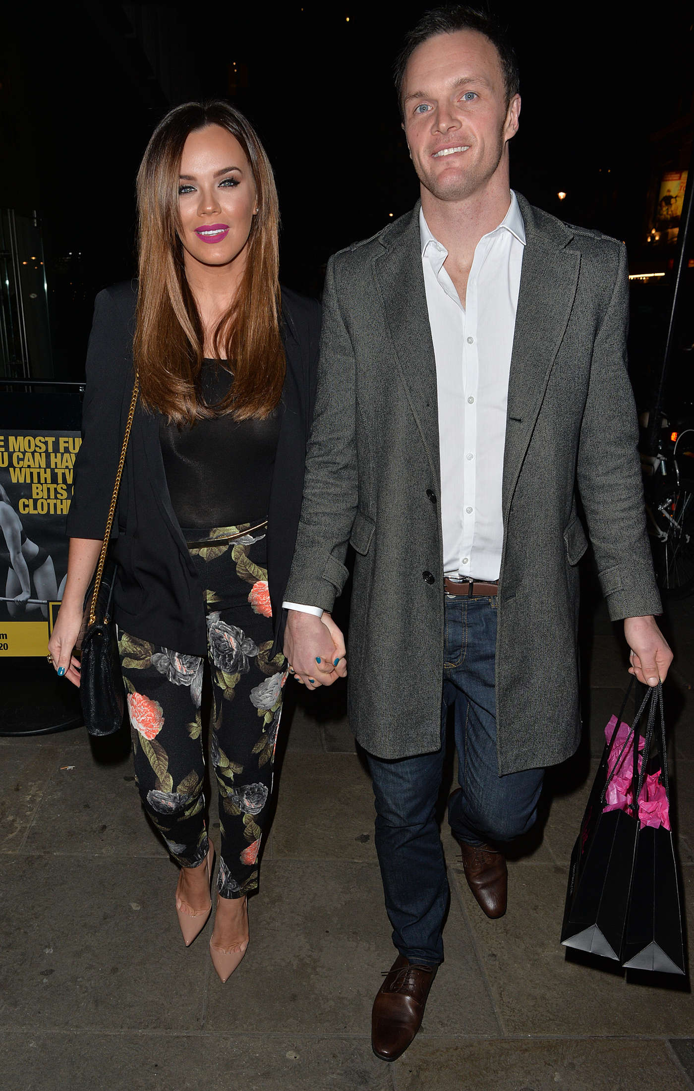 Maria Fowler with boyfriend Kelvin Batey in Mayfair