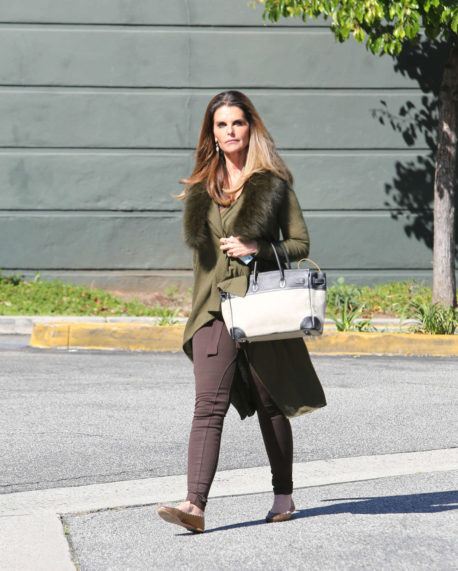 Maria Shriver out in Brentwood