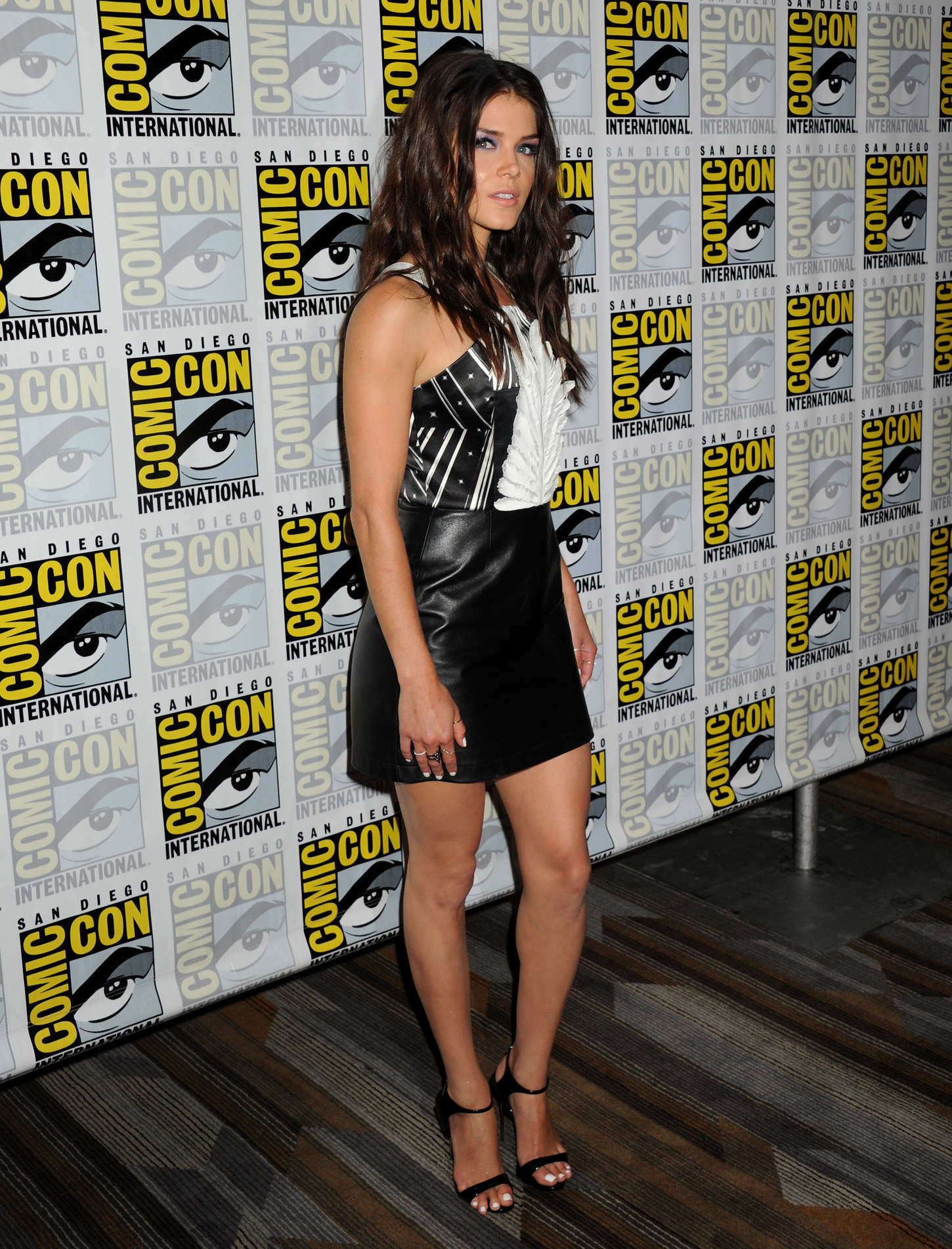 Marie Avgeropoulos The Press Line During Comic-Con in San Diego