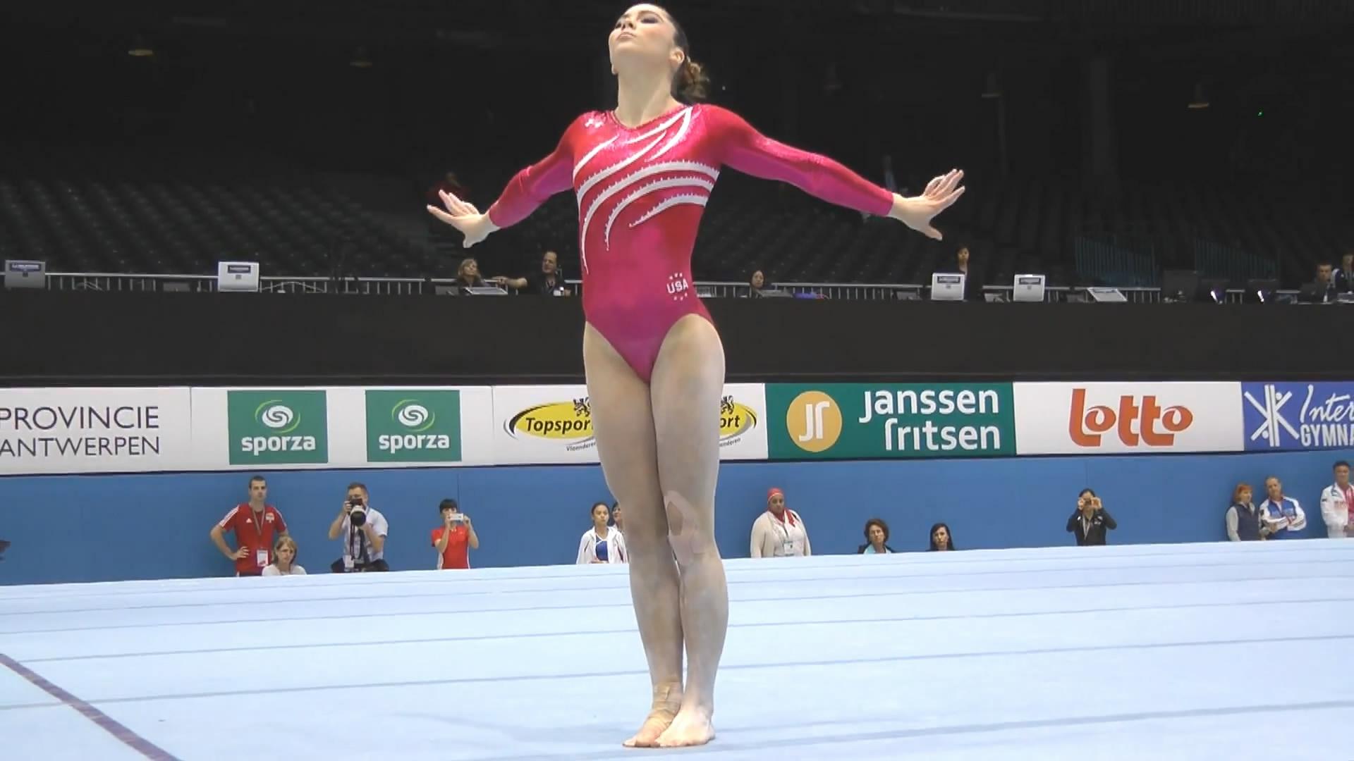 McKayla Maroney World Championships in Belgium