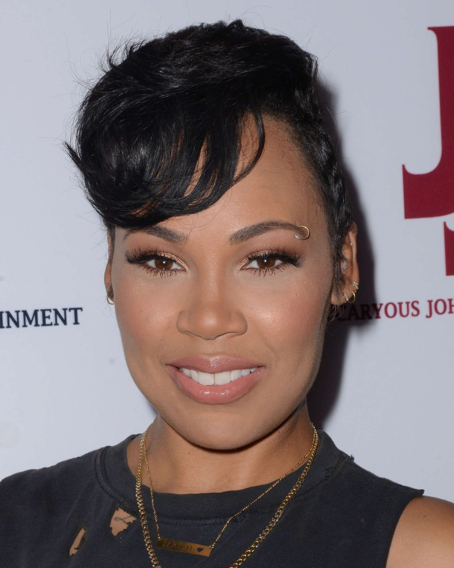 Meagan Good and Lamyia Good JeCaryous Johnsons Married But Single Opening in Los Angeles