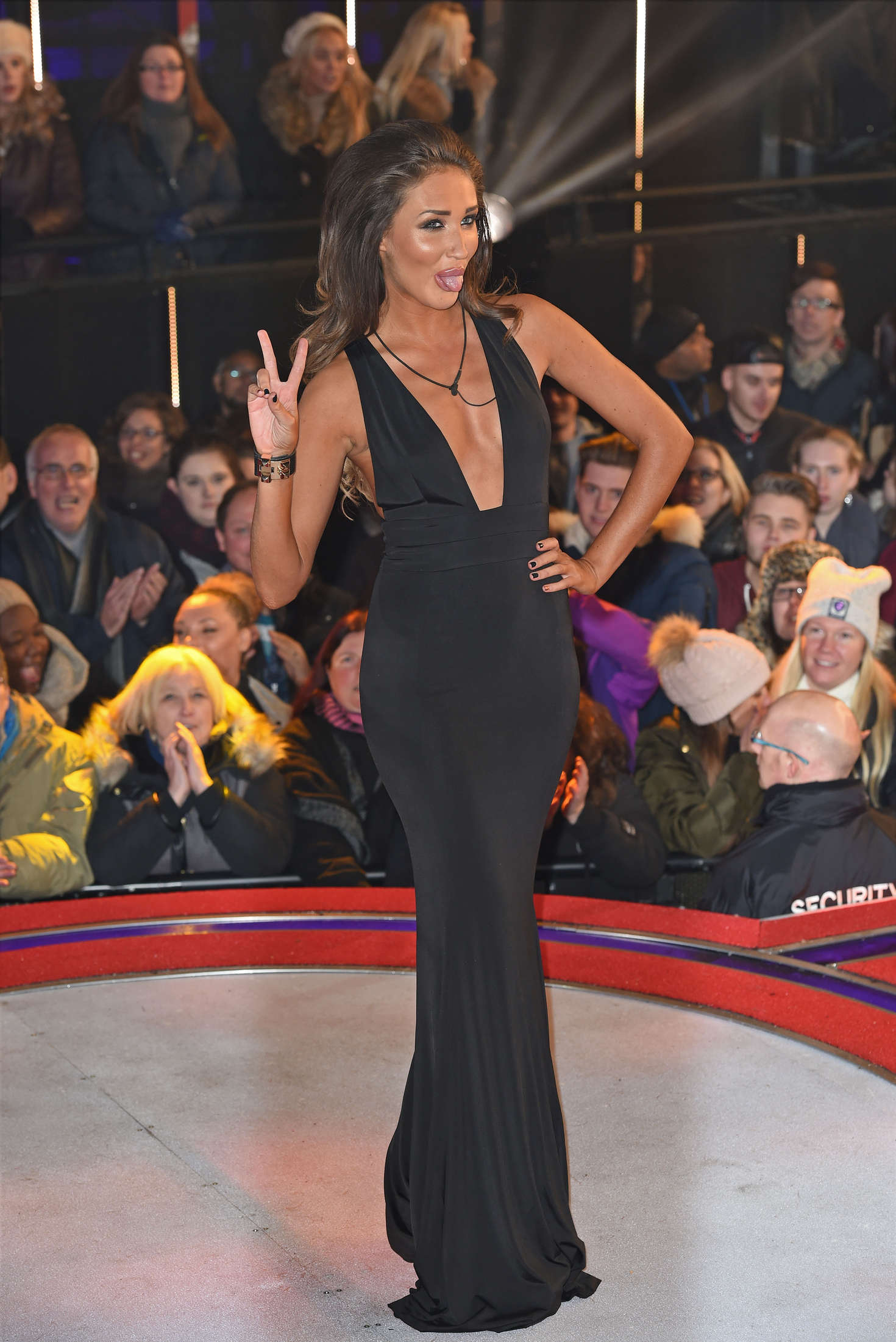 Megan McKenna Celebrity Big Brother Eviction Night at the Big Brother House in Hertfordshire
