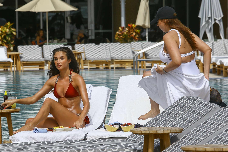 Megan McKenna in Red Bikini in Miami