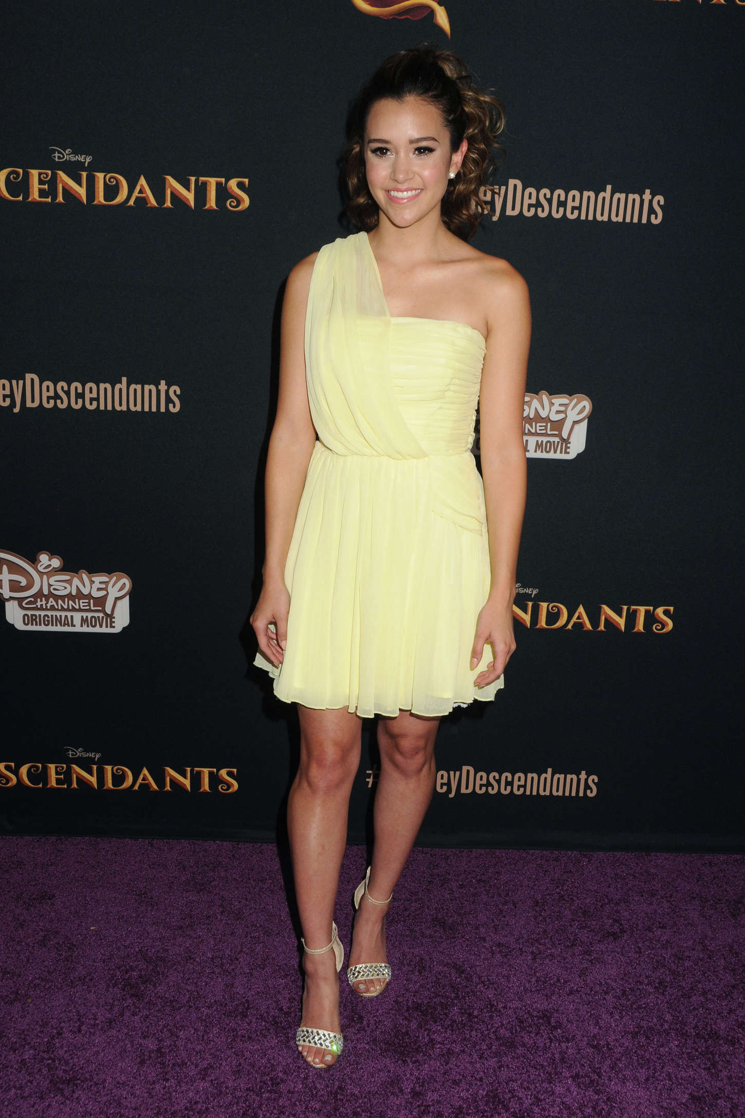 Megan Nicole Disneys Descendants Premiere in Burbank