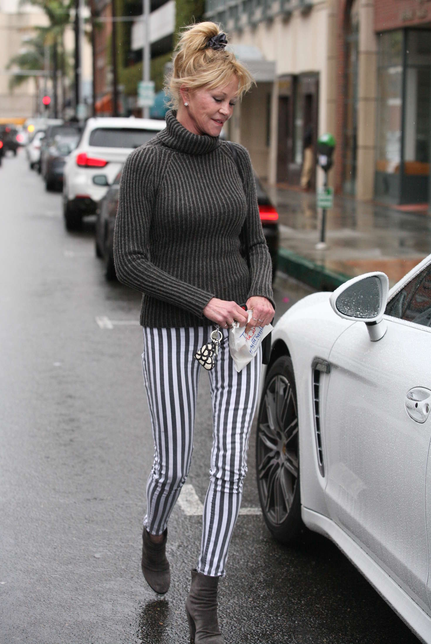 Melanie Griffith go out in Beverly Hills