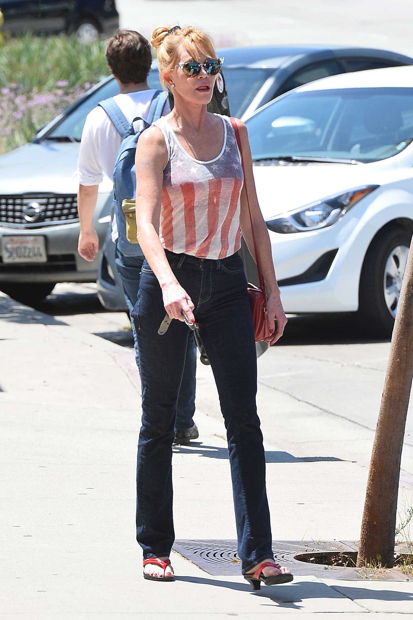 Melanie Griffith in Tight Jeans Out in Los Angeles
