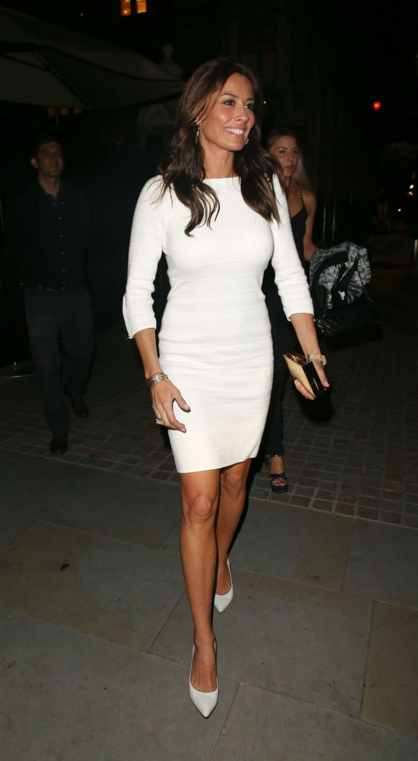 Melanie Sykes Arrives at Chiltern Firehouse in London