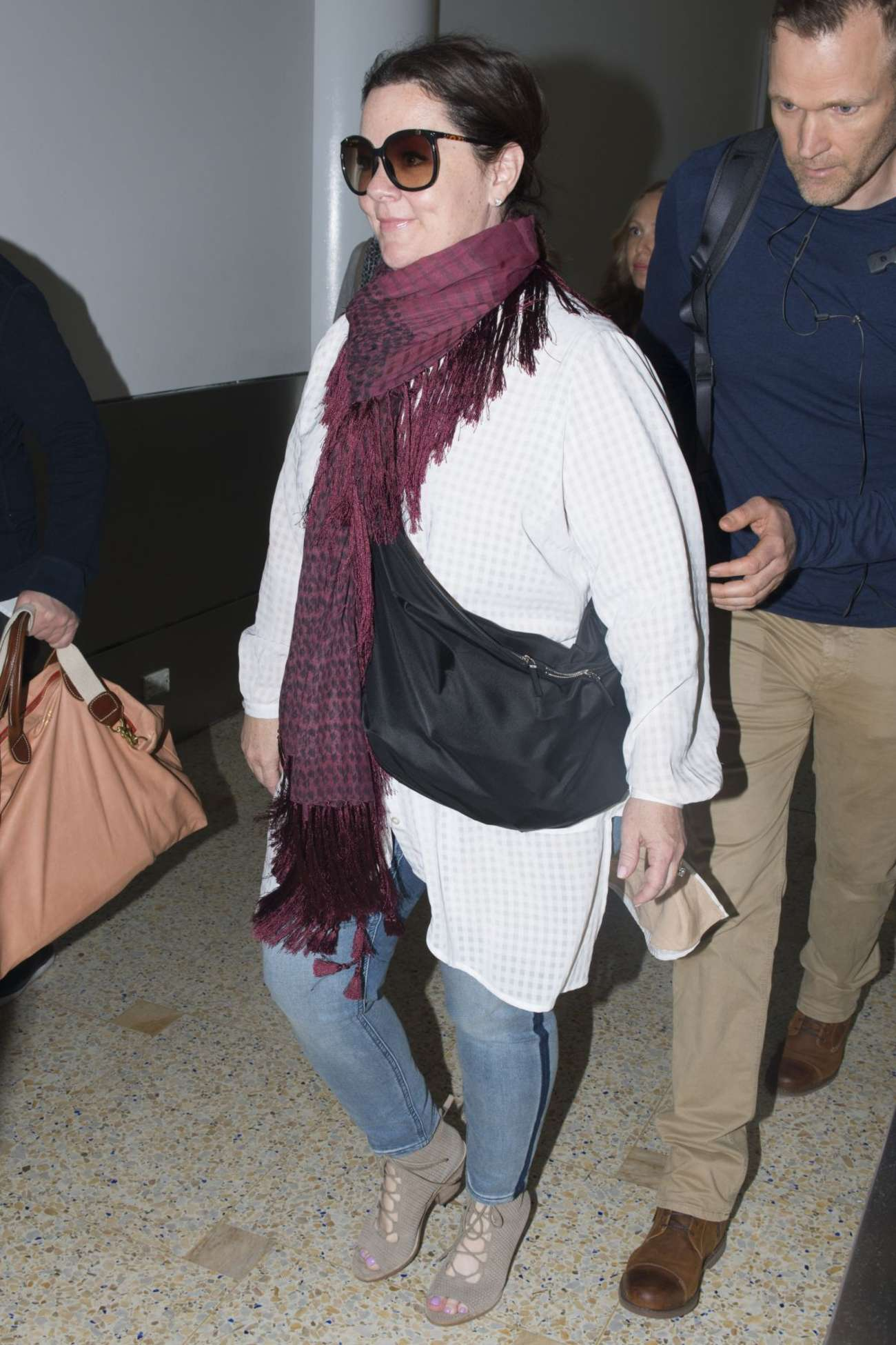 Melissa Mccarthy in Jeans at Airport in Sydney