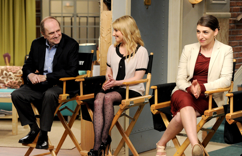 Melissa Rauch dialogue on the set of The Big Bang Theory