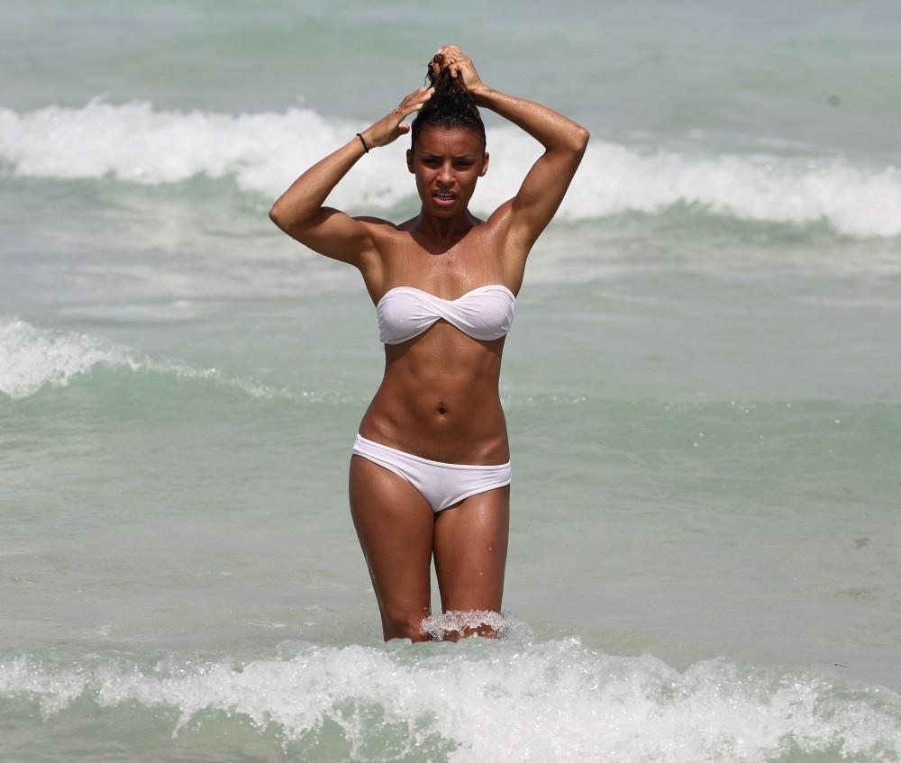 Melody Thornton At the beach in Miami