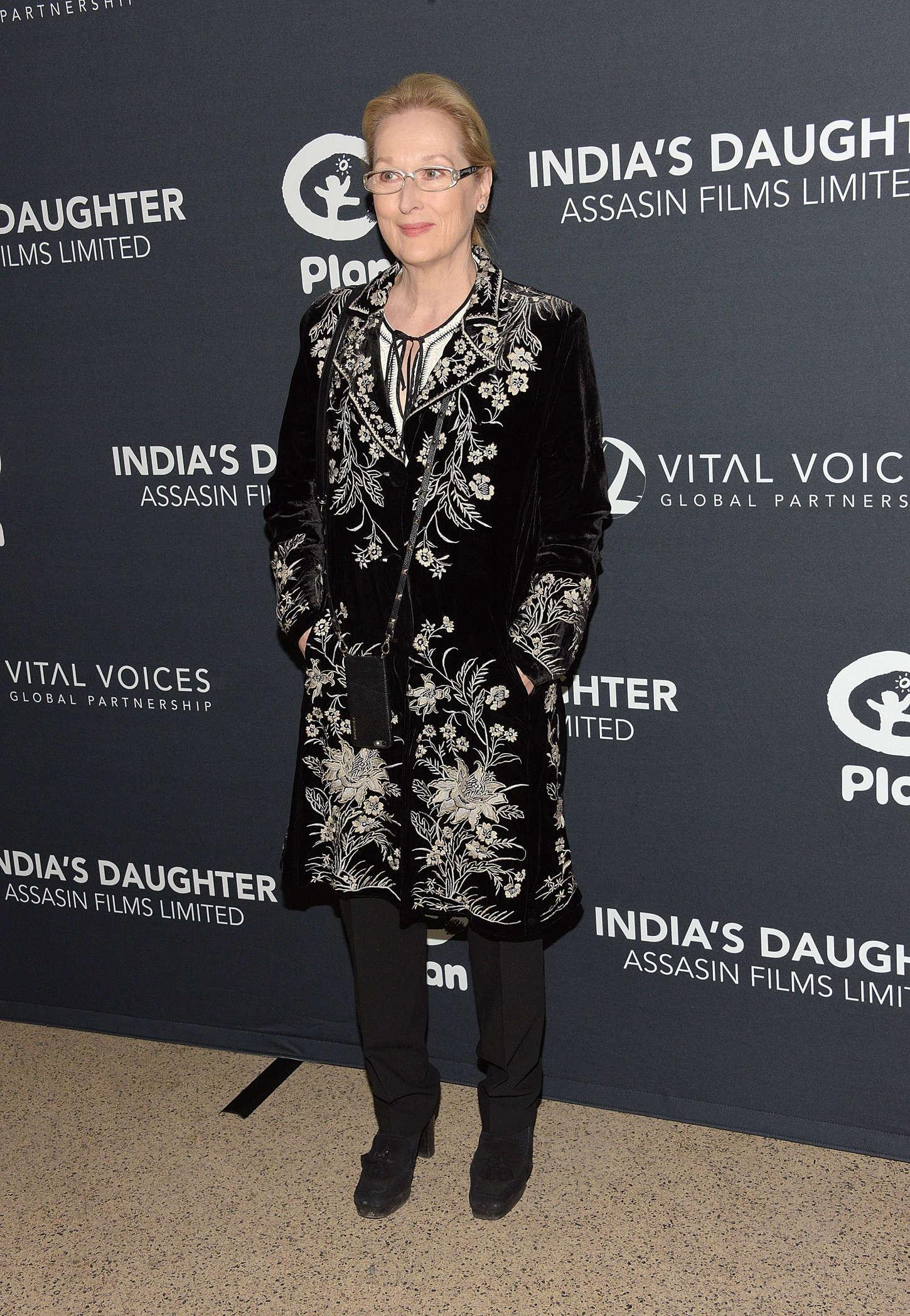 Meryl Streep Indias Daughter Screening in New York