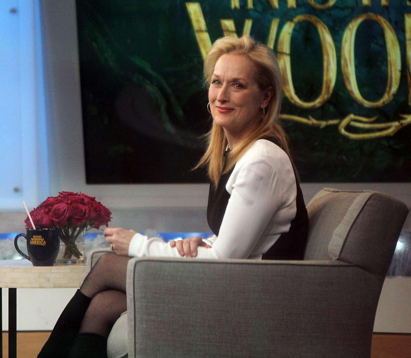 Meryl Streep on Good Morning America in New York