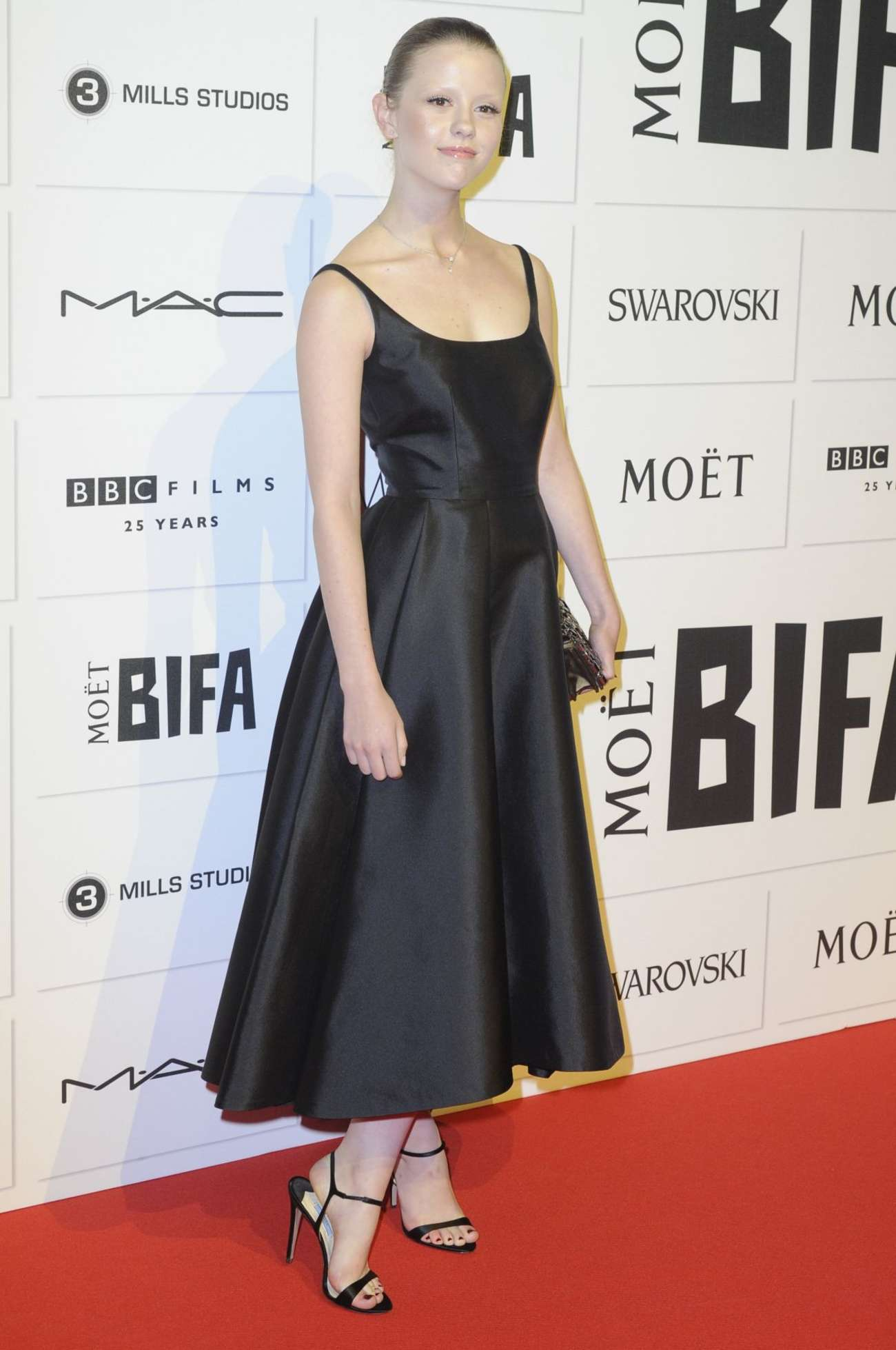 Mia Goth Moet British Independent Film Awards in London