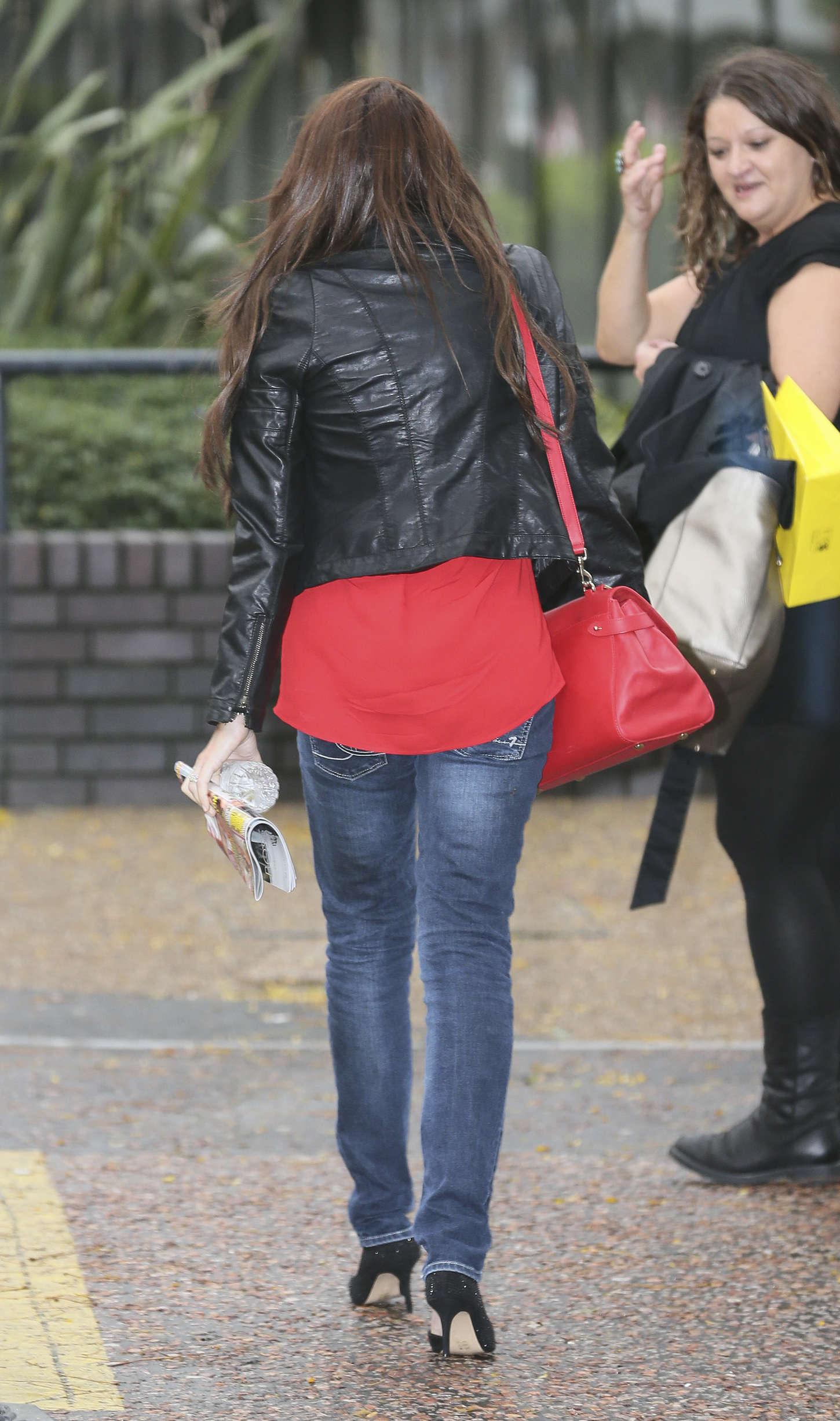 Michelle Heaton Seen outside the London Studios