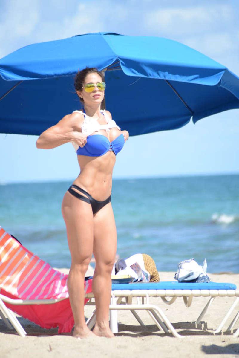 Michelle Lewin Bikini Candids in Miami