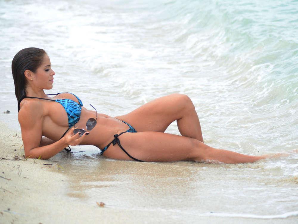 Michelle Lewin in Bikini on Miami Beach