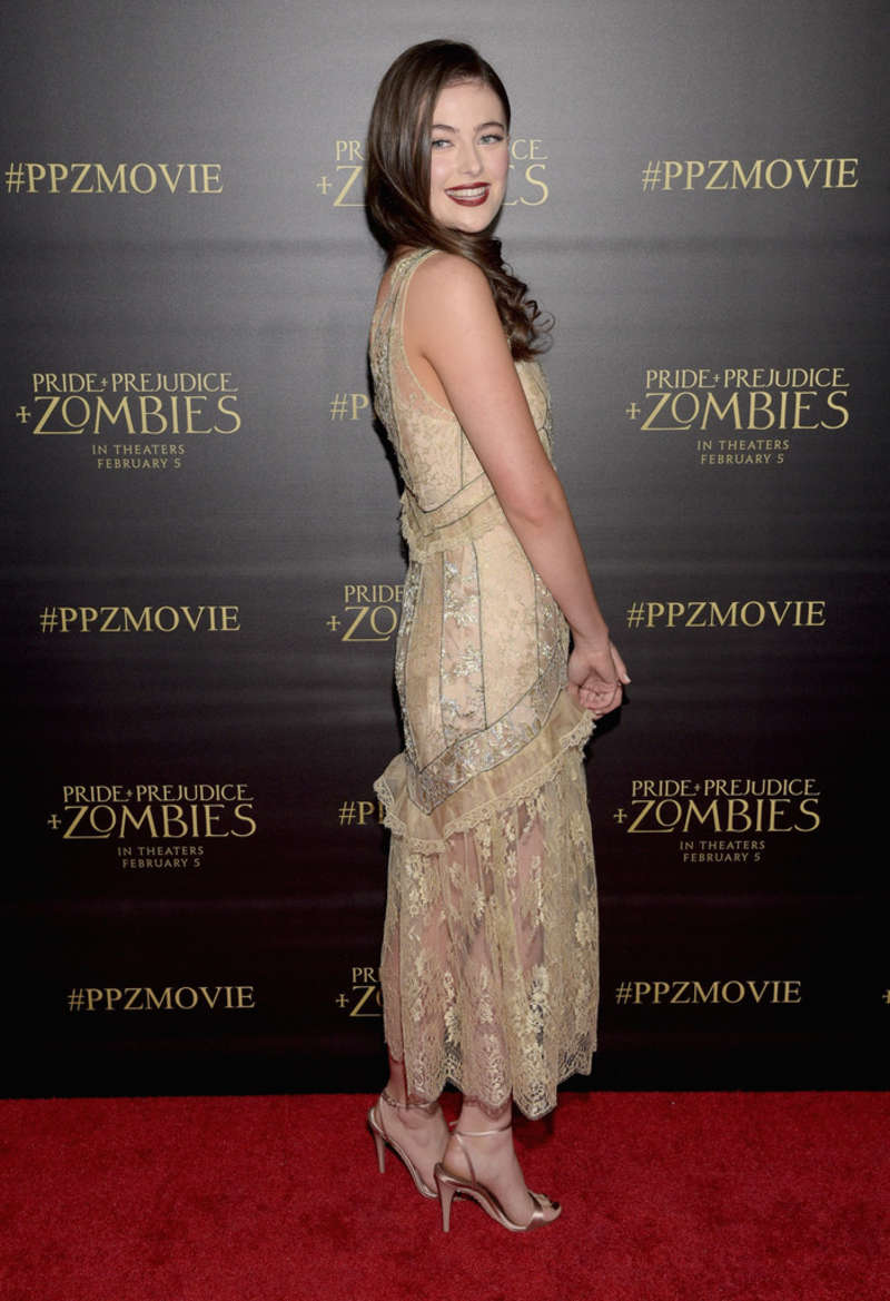 Millie Brady Pride and Prejudice and Zombies Premiere in Los Angeles