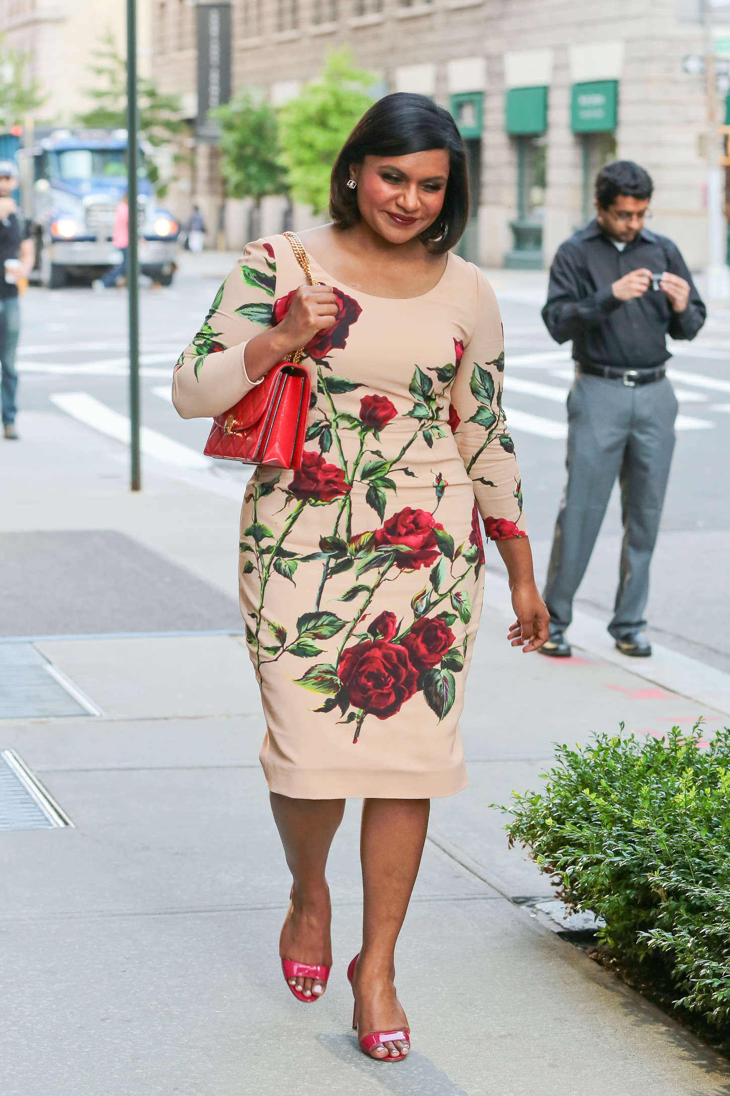 Mindy Kaling go out in New York