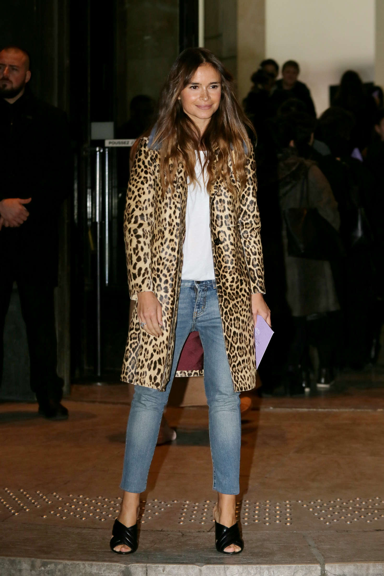 Miroslava Duma Arrivals at Giorgio Armani Fashion Show Spring Summer in Paris