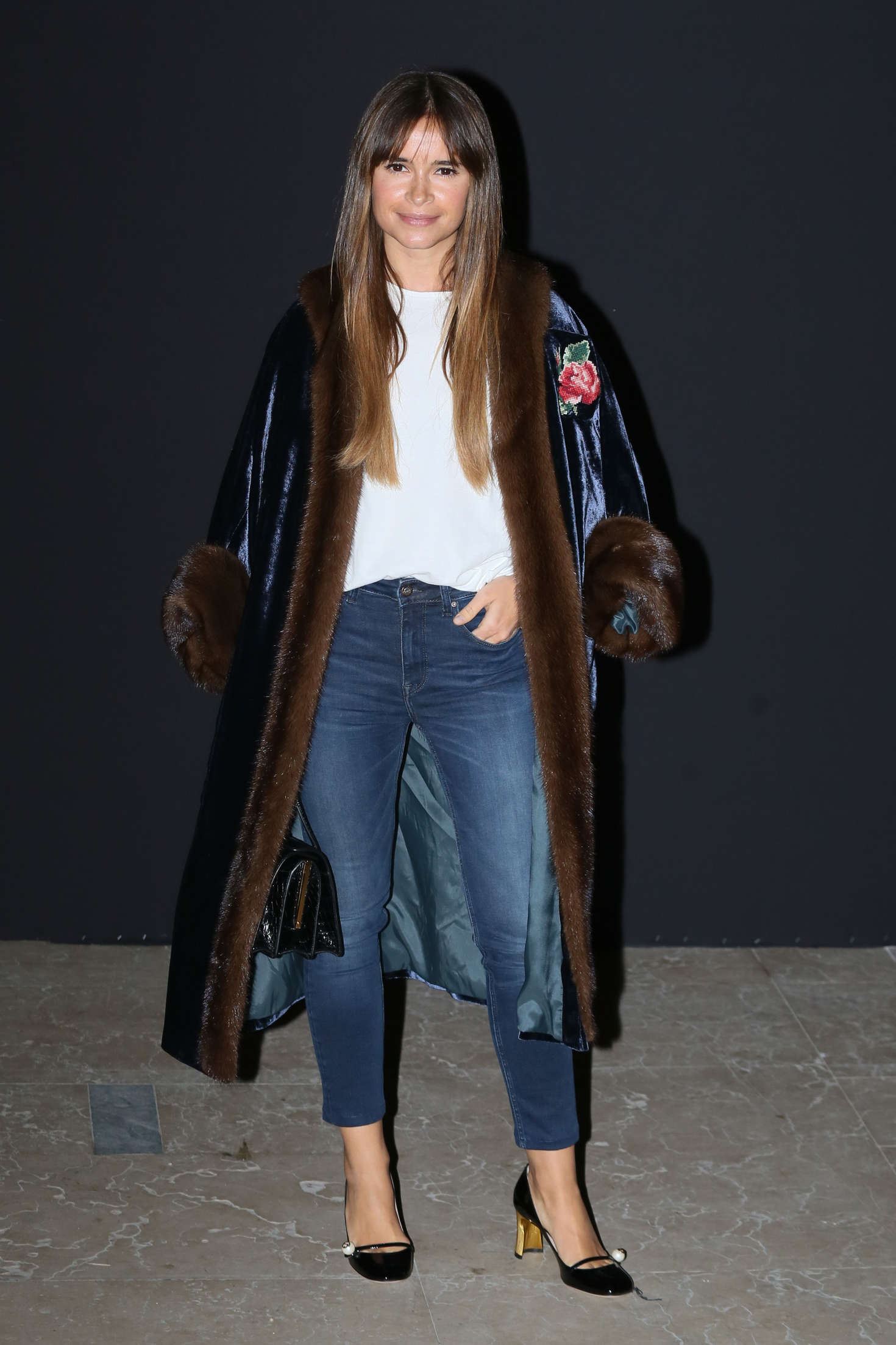 Miroslava Duma Atelier Versace Fashion Show Autumn Winter in Paris