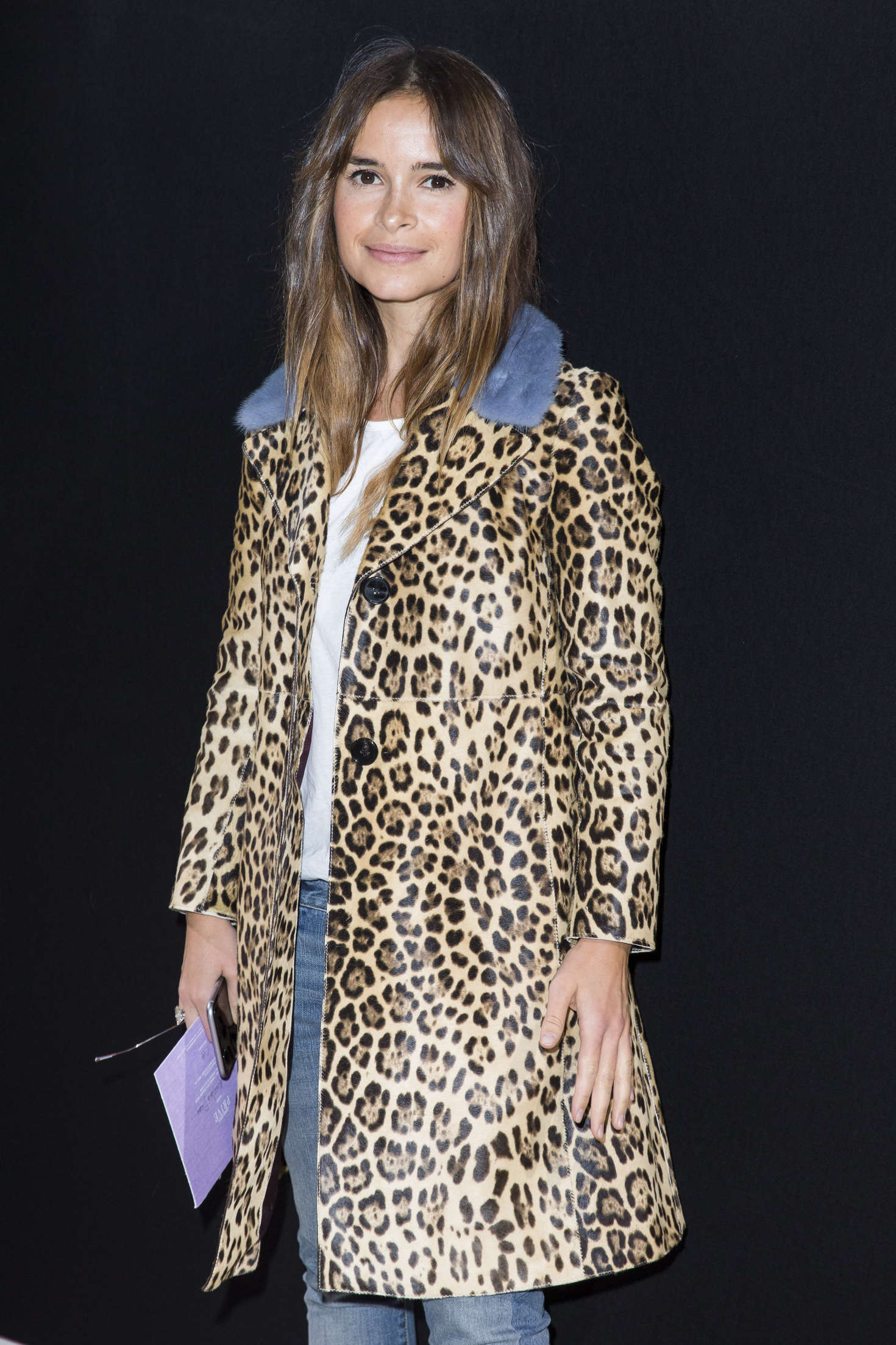 Miroslava Duma Haute Couture Fashion Show Giorgio Armani Prive SS in Paris