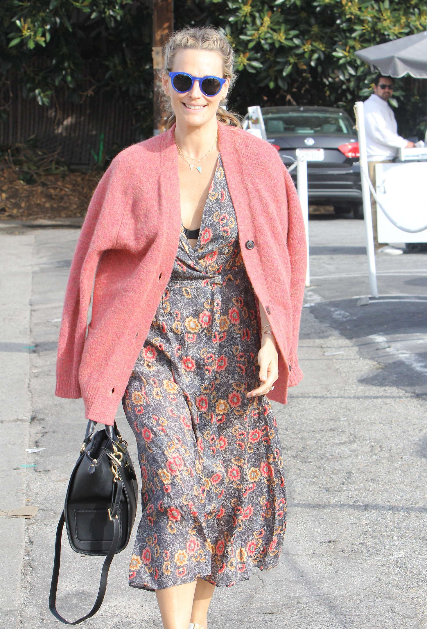 Molly Sims in Long Dress out in Brentwood