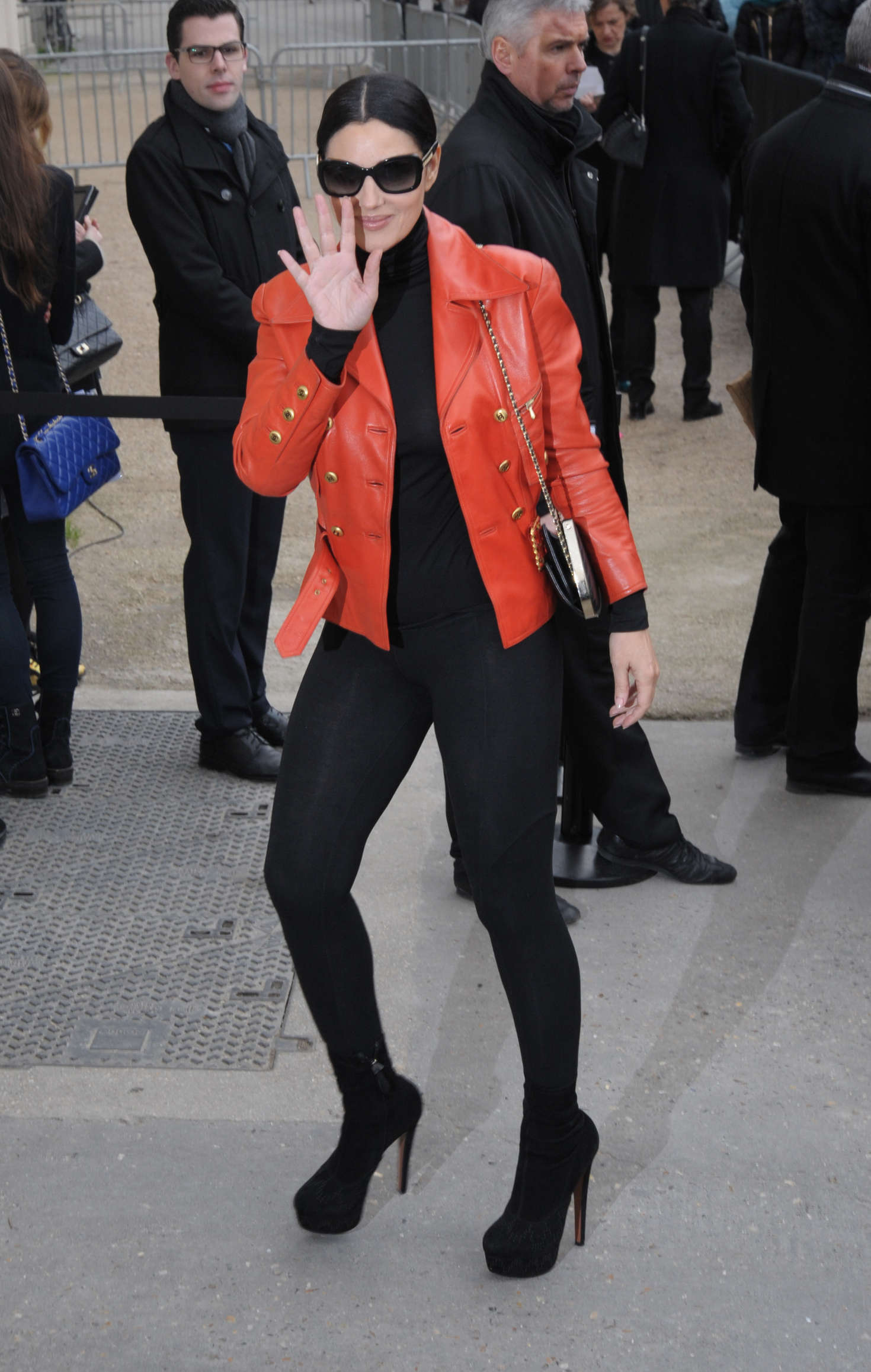 Monica Bellucci Arriving at Chanel Fashion Show in Paris