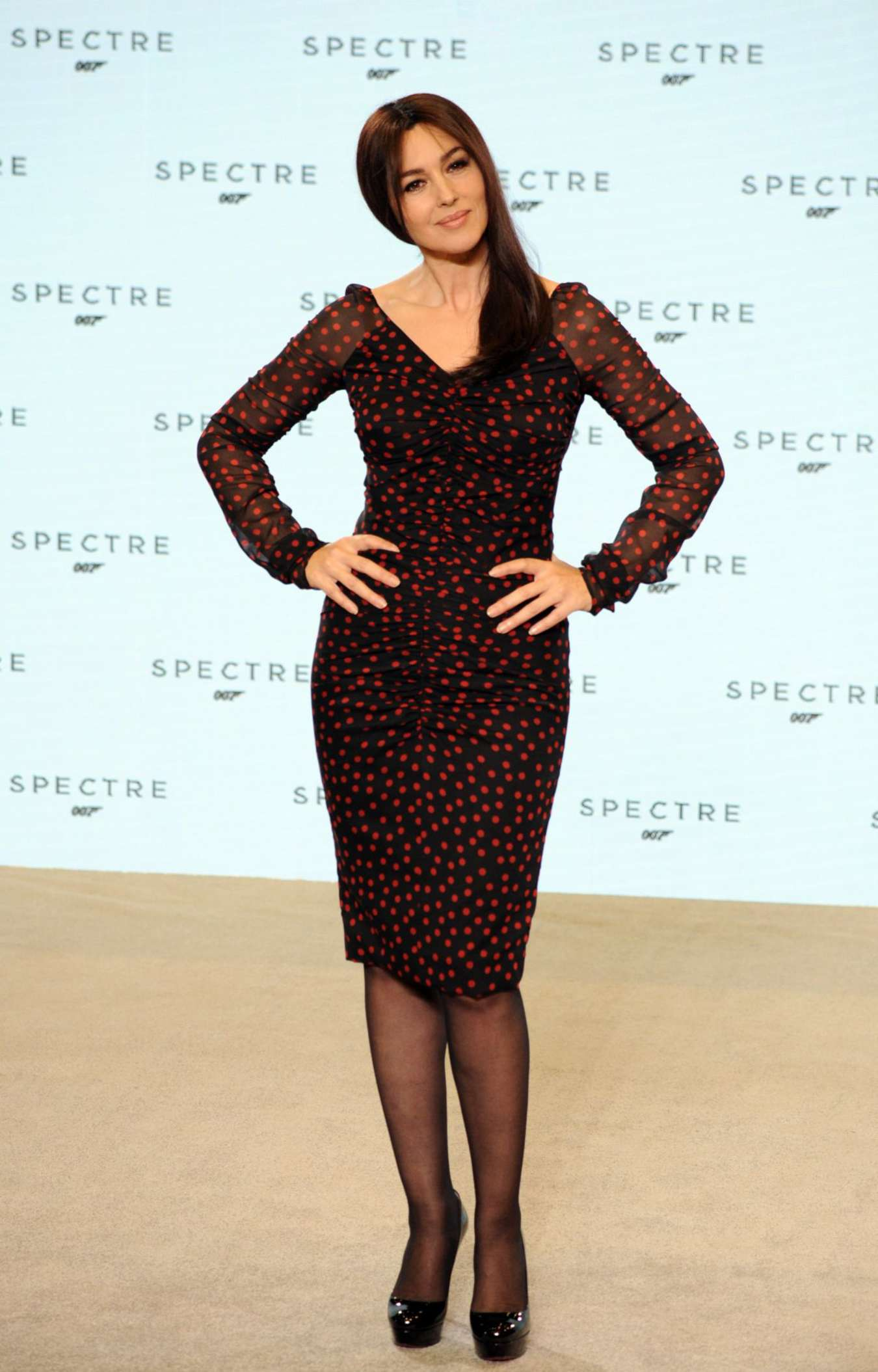 Monica Bellucci Bond Photocall at Pinewood Studios in England